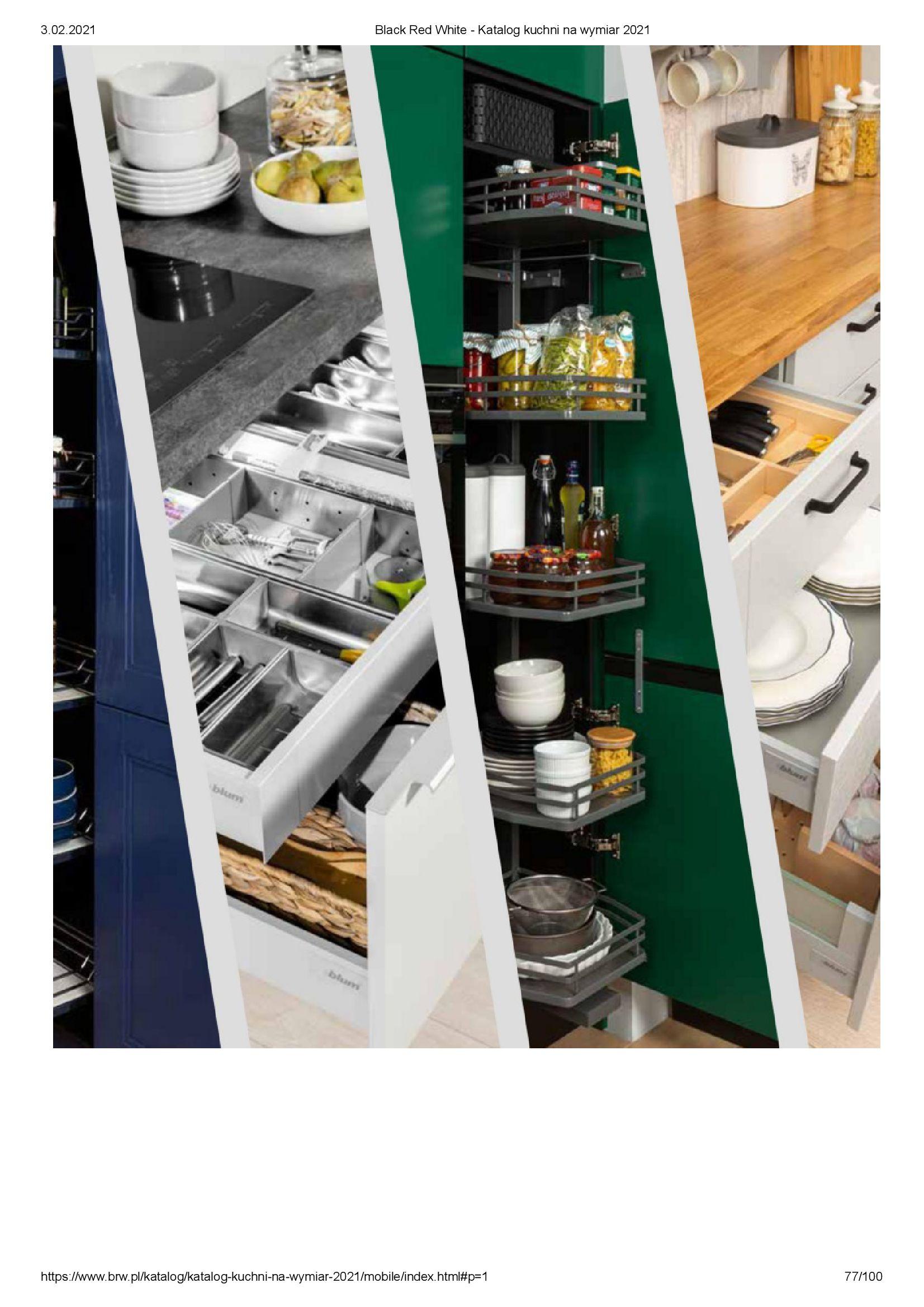 Gazetka Black Red White: Katalog - Kuchnie na wymiar Senso Kitchens 2021 2021-01-01 page-77