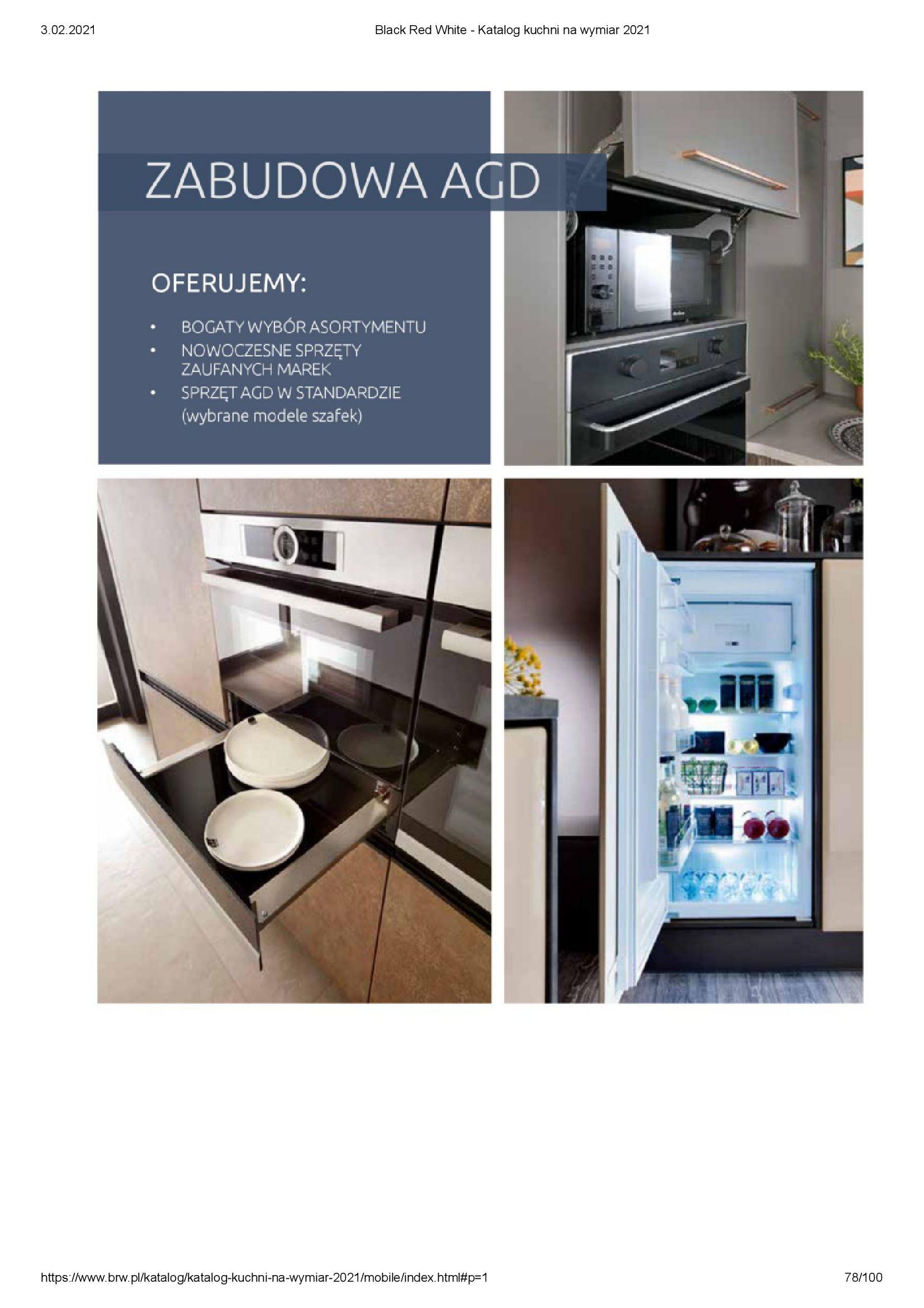 Gazetka Black Red White: Katalog - Kuchnie na wymiar Senso Kitchens 2021 2021-01-01 page-78