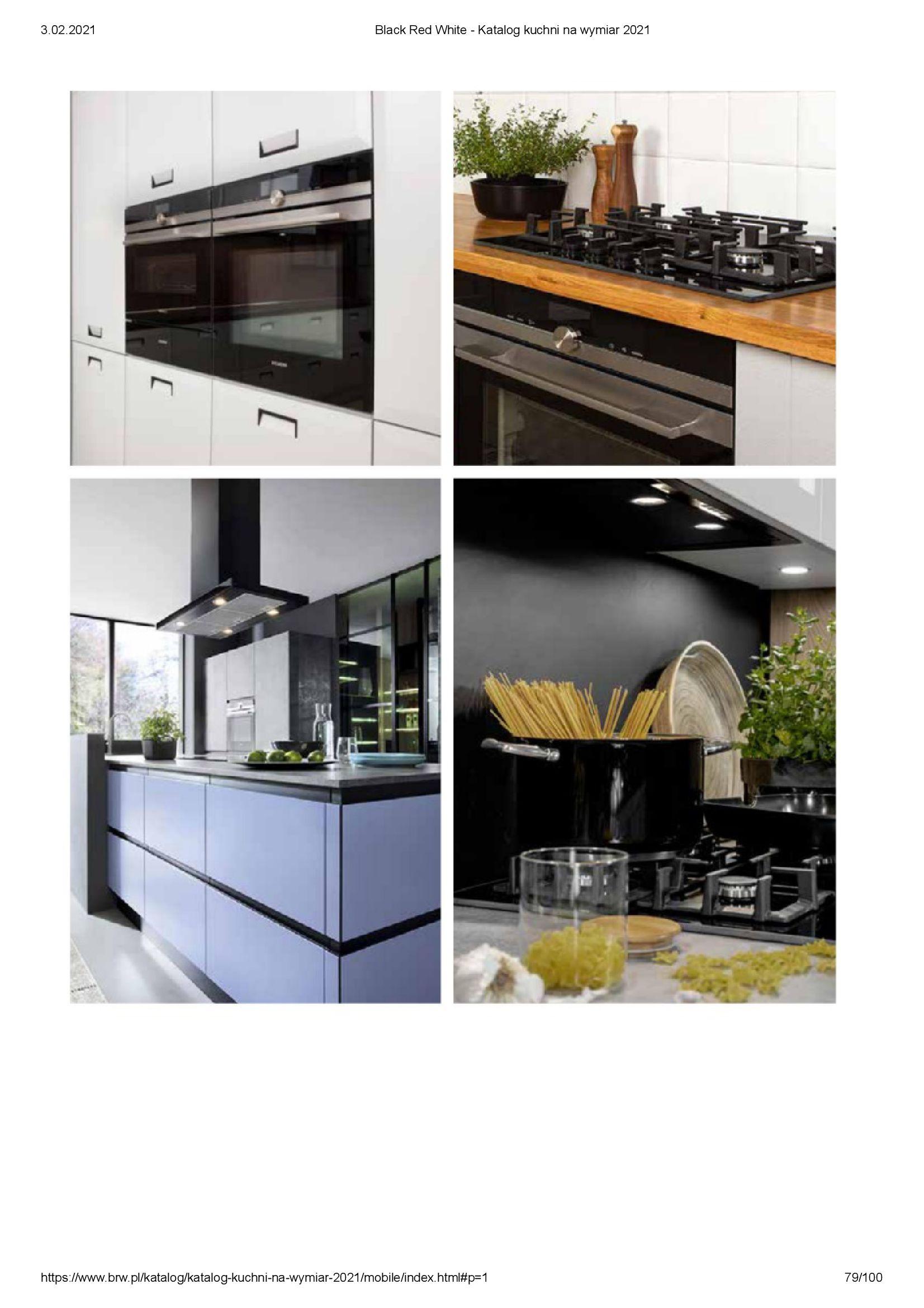 Gazetka Black Red White: Katalog - Kuchnie na wymiar Senso Kitchens 2021 2021-01-01 page-79