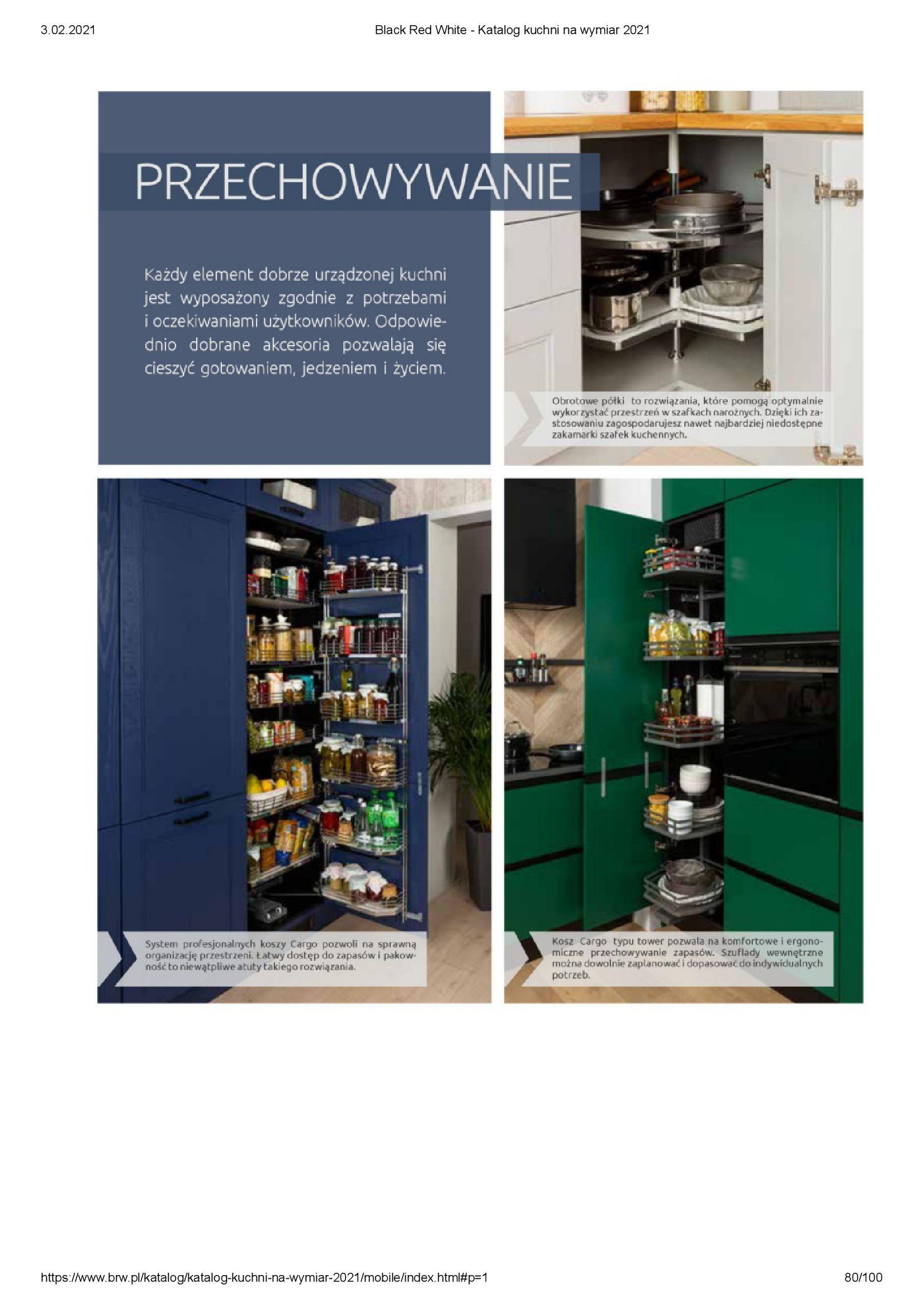 Gazetka Black Red White: Katalog - Kuchnie na wymiar Senso Kitchens 2021 2021-01-01 page-80
