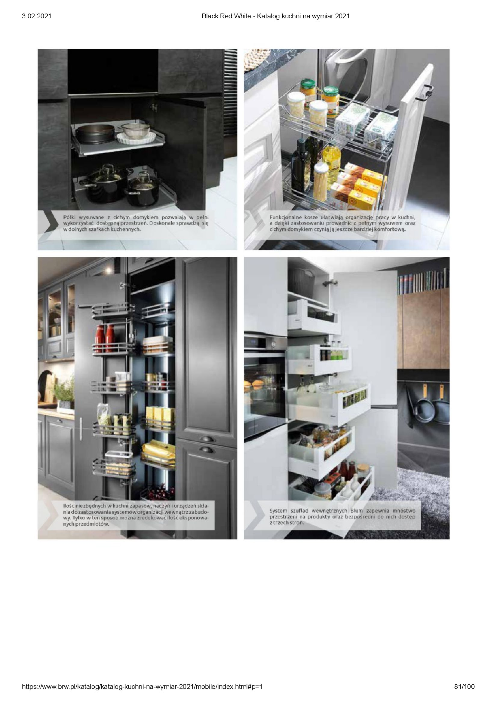 Gazetka Black Red White: Katalog - Kuchnie na wymiar Senso Kitchens 2021 2021-01-01 page-81