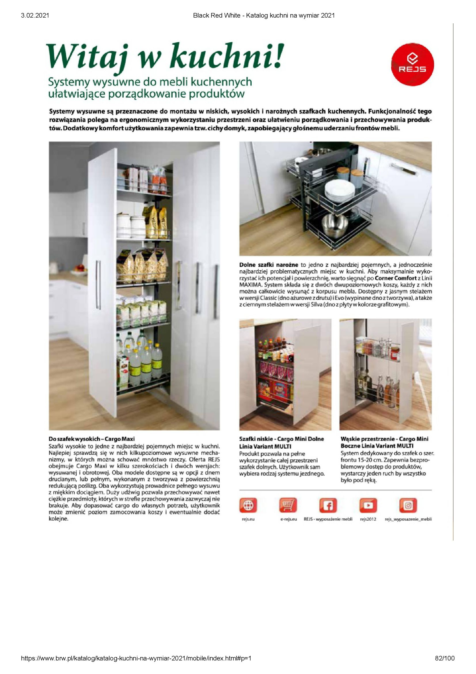 Gazetka Black Red White: Katalog - Kuchnie na wymiar Senso Kitchens 2021 2021-01-01 page-82