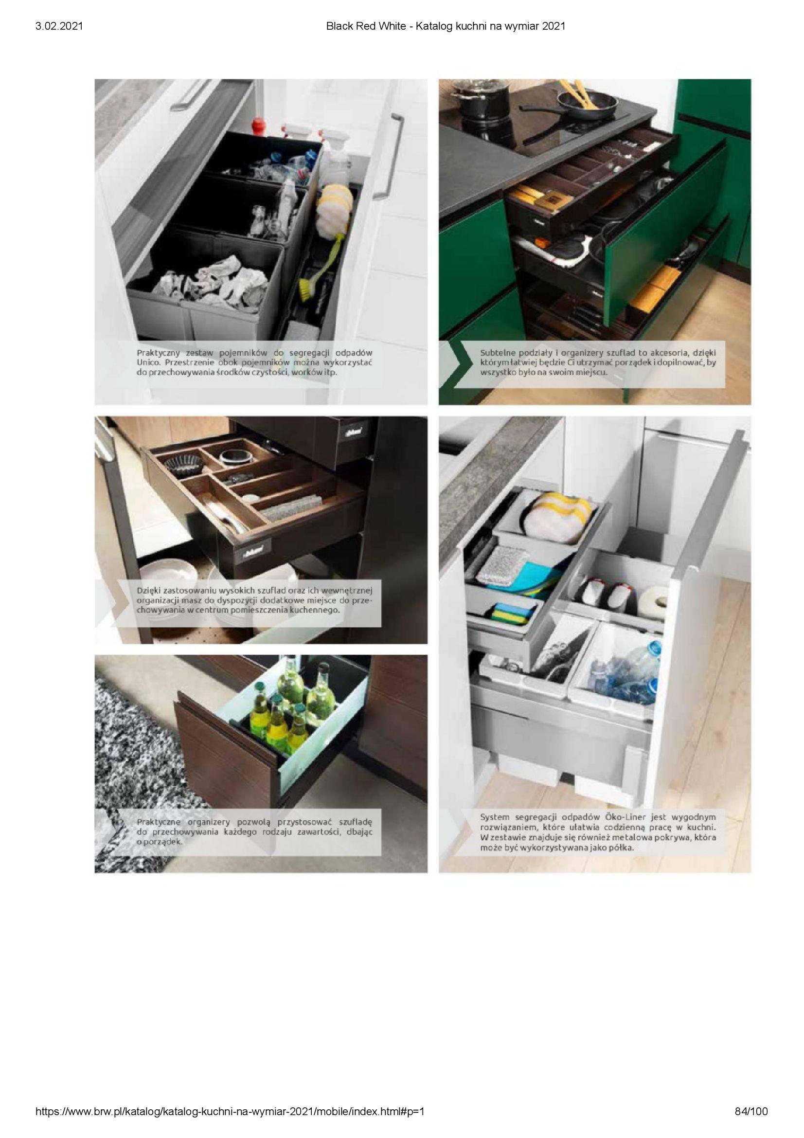 Gazetka Black Red White: Katalog - Kuchnie na wymiar Senso Kitchens 2021 2021-01-01 page-84