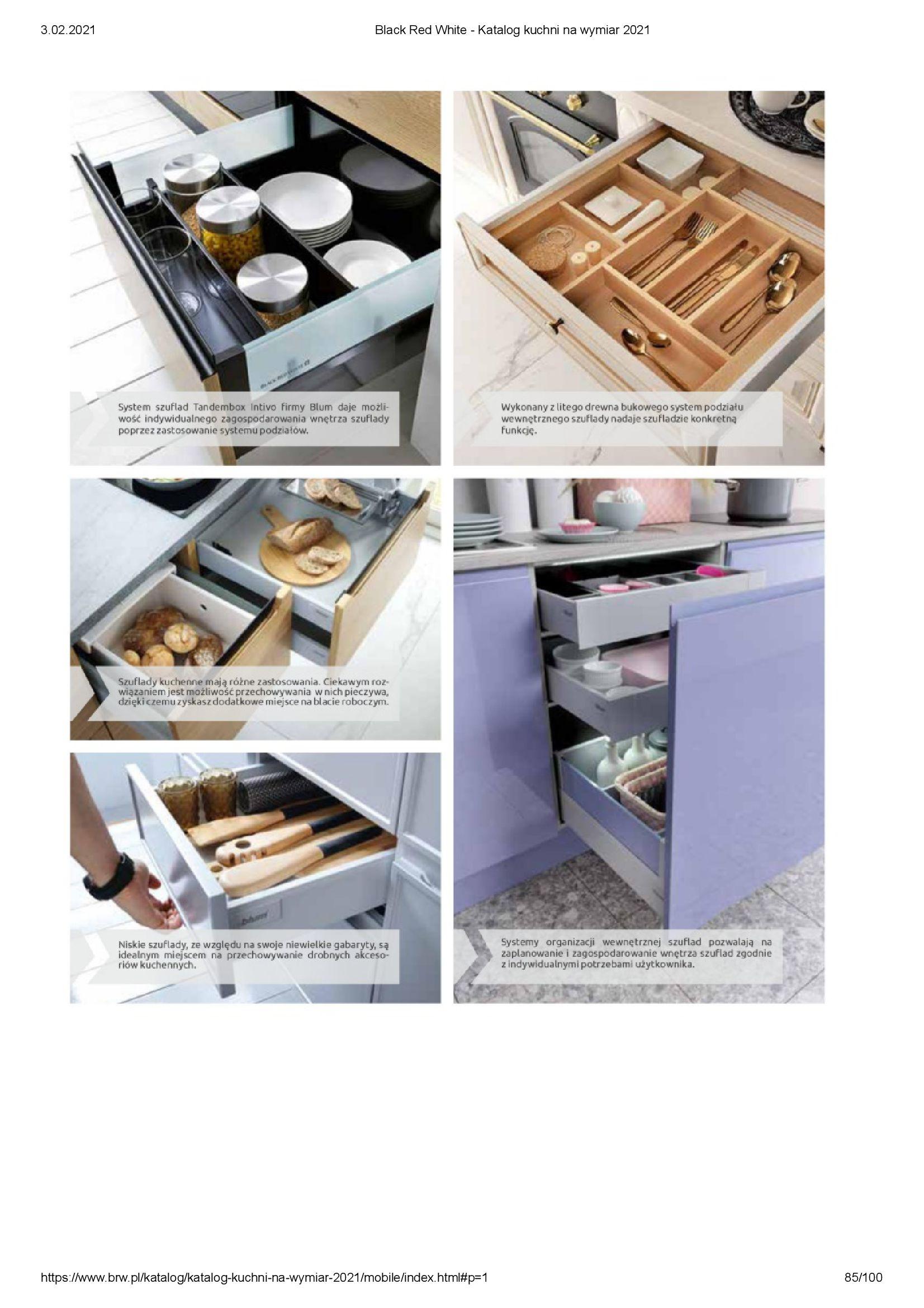 Gazetka Black Red White: Katalog - Kuchnie na wymiar Senso Kitchens 2021 2021-01-01 page-85