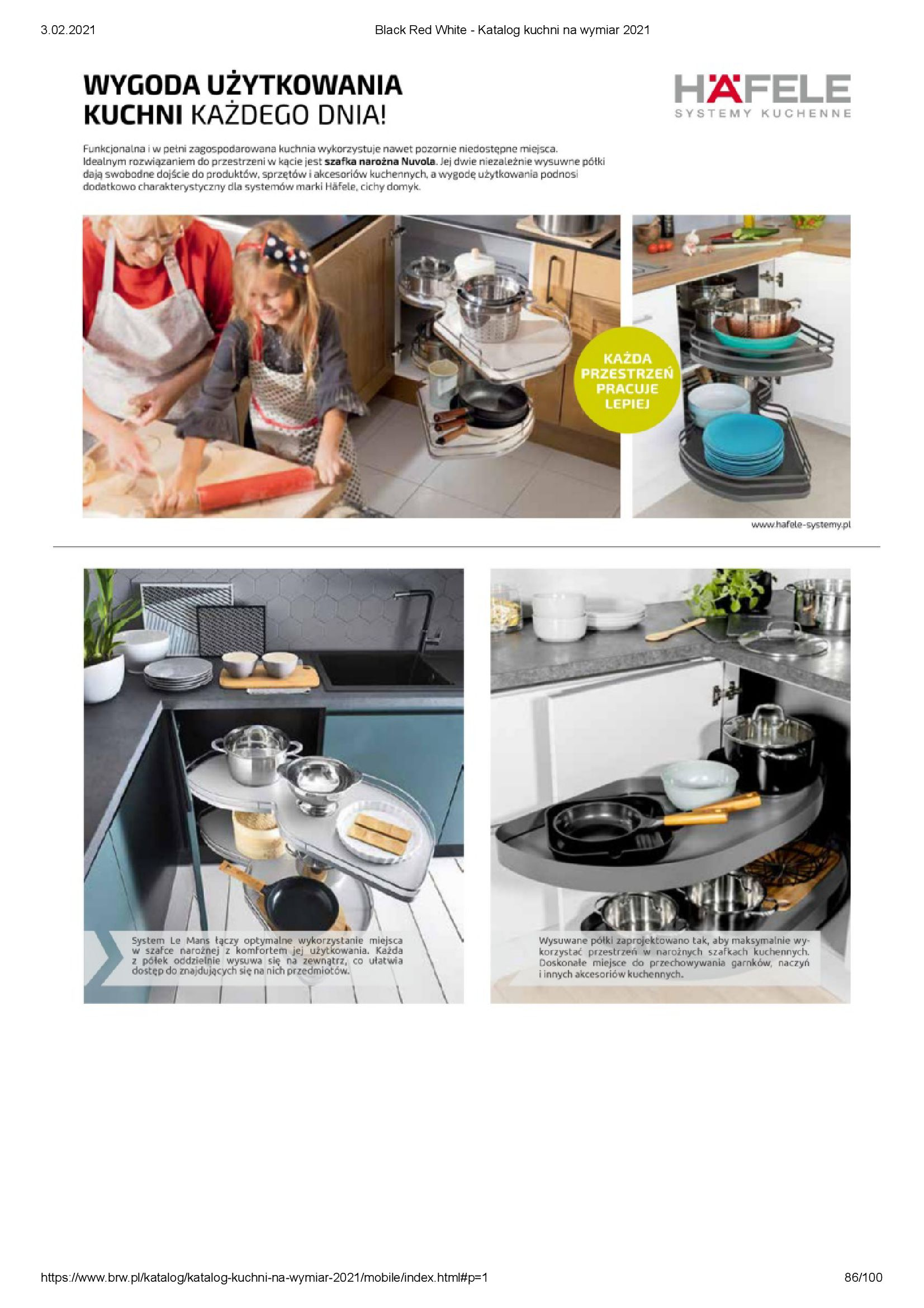 Gazetka Black Red White: Katalog - Kuchnie na wymiar Senso Kitchens 2021 2021-01-01 page-86