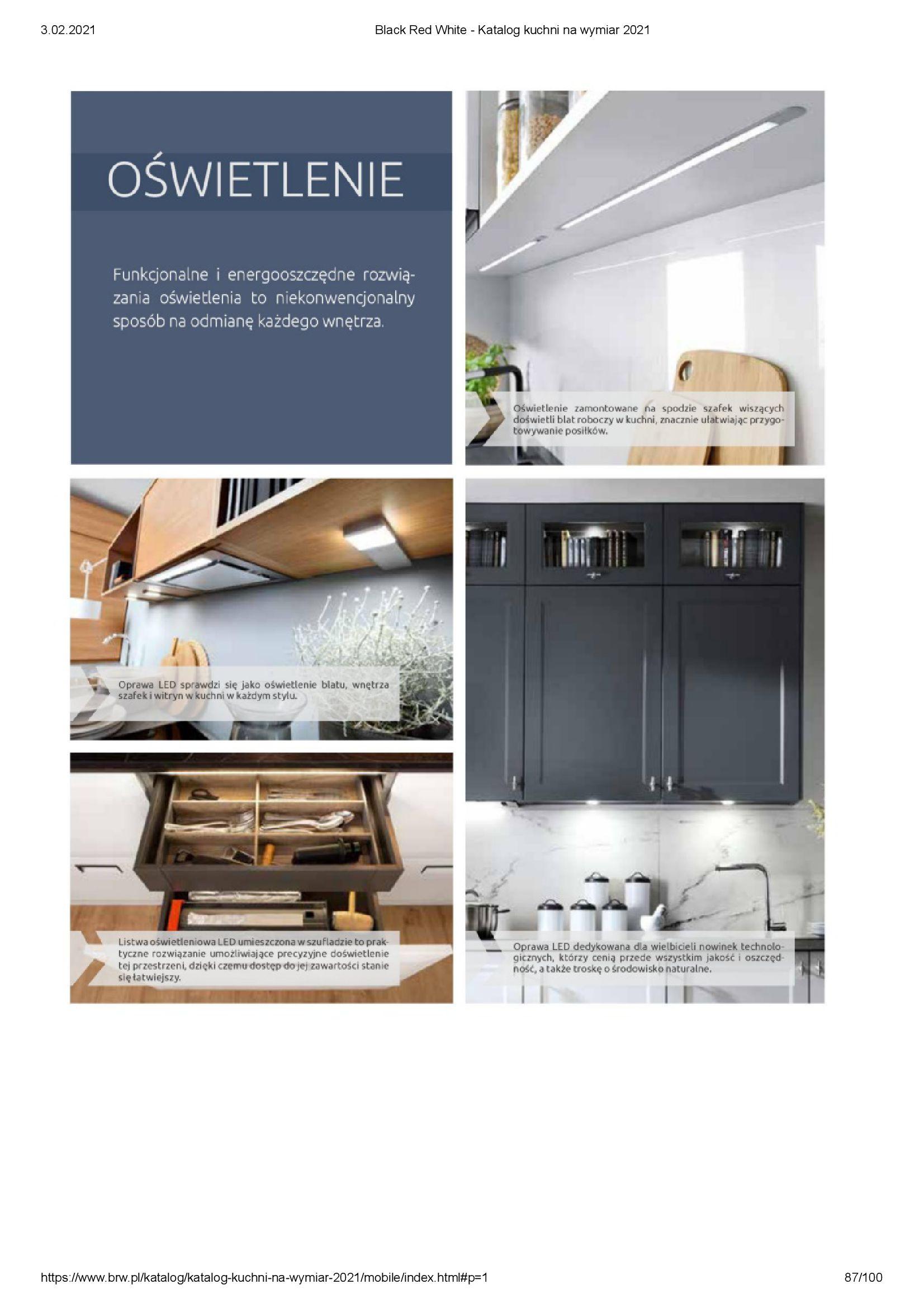 Gazetka Black Red White: Katalog - Kuchnie na wymiar Senso Kitchens 2021 2021-01-01 page-87