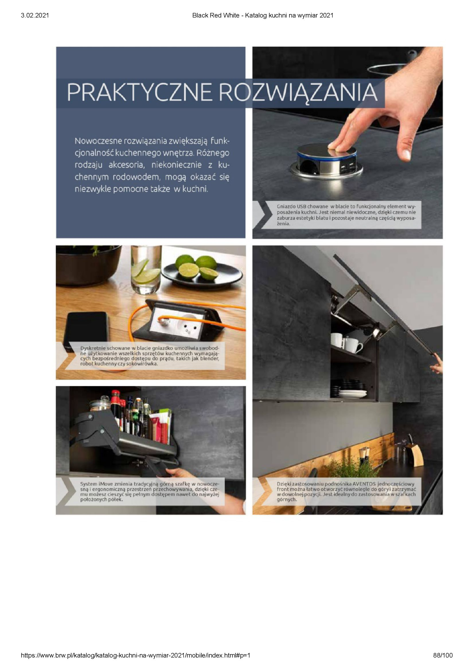 Gazetka Black Red White: Katalog - Kuchnie na wymiar Senso Kitchens 2021 2021-01-01 page-88