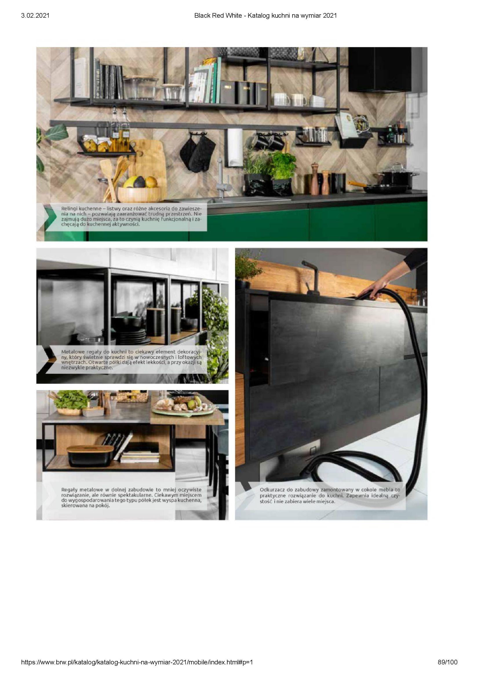 Gazetka Black Red White: Katalog - Kuchnie na wymiar Senso Kitchens 2021 2021-01-01 page-89