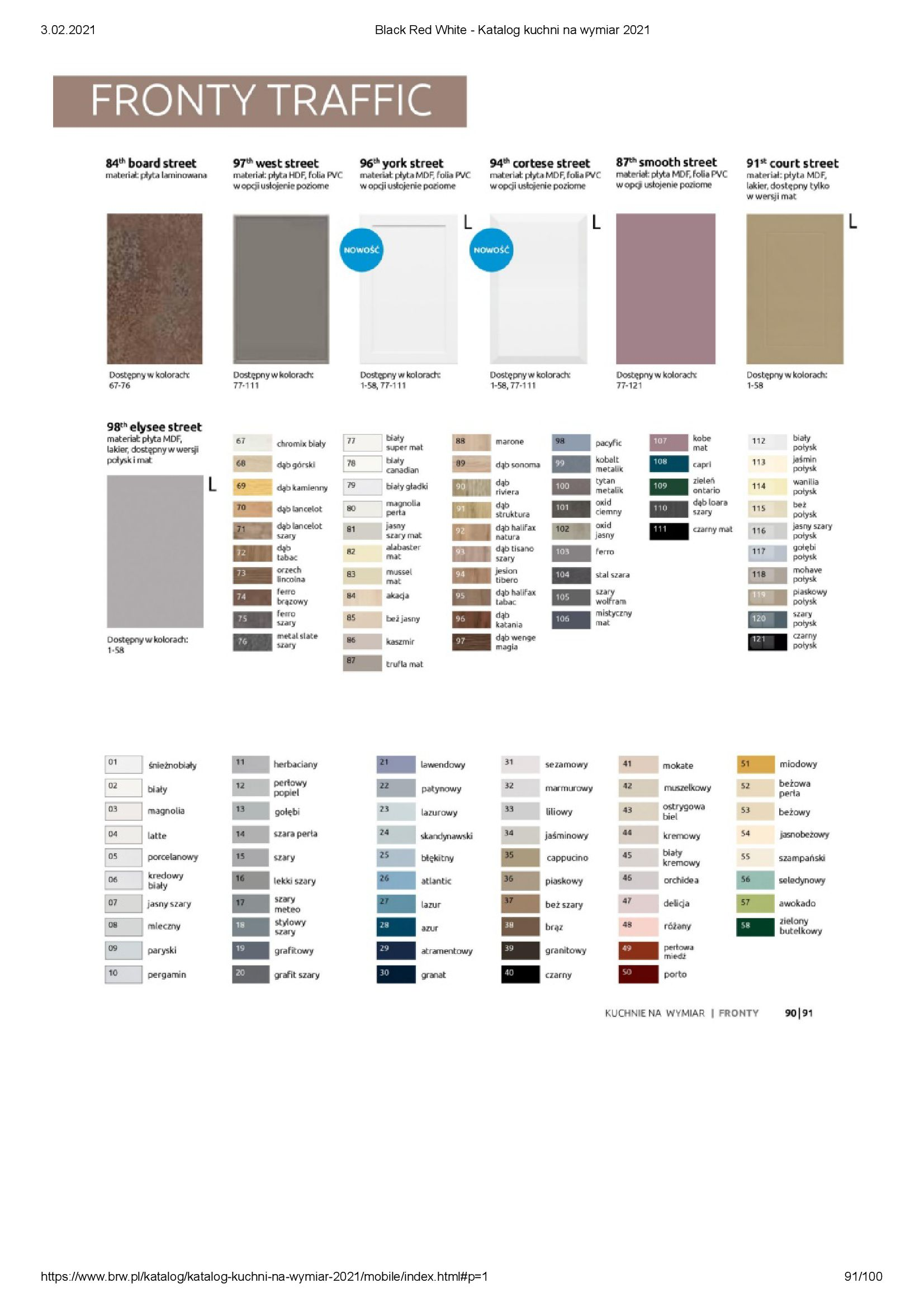 Gazetka Black Red White: Katalog - Kuchnie na wymiar Senso Kitchens 2021 2021-01-01 page-91