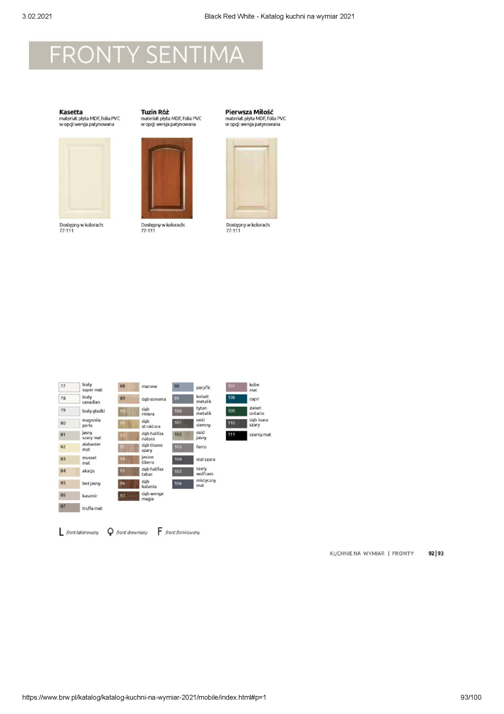 Gazetka Black Red White: Katalog - Kuchnie na wymiar Senso Kitchens 2021 2021-01-01 page-93