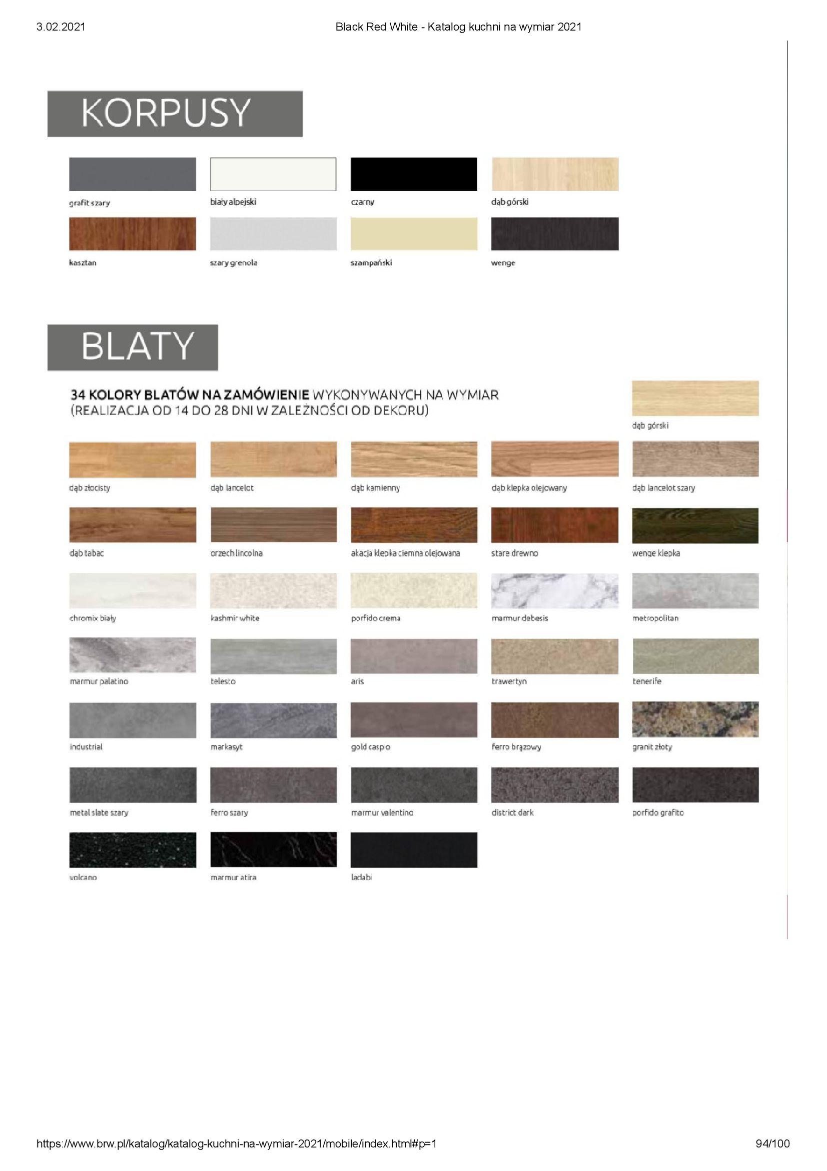 Gazetka Black Red White: Katalog - Kuchnie na wymiar Senso Kitchens 2021 2021-01-01 page-94