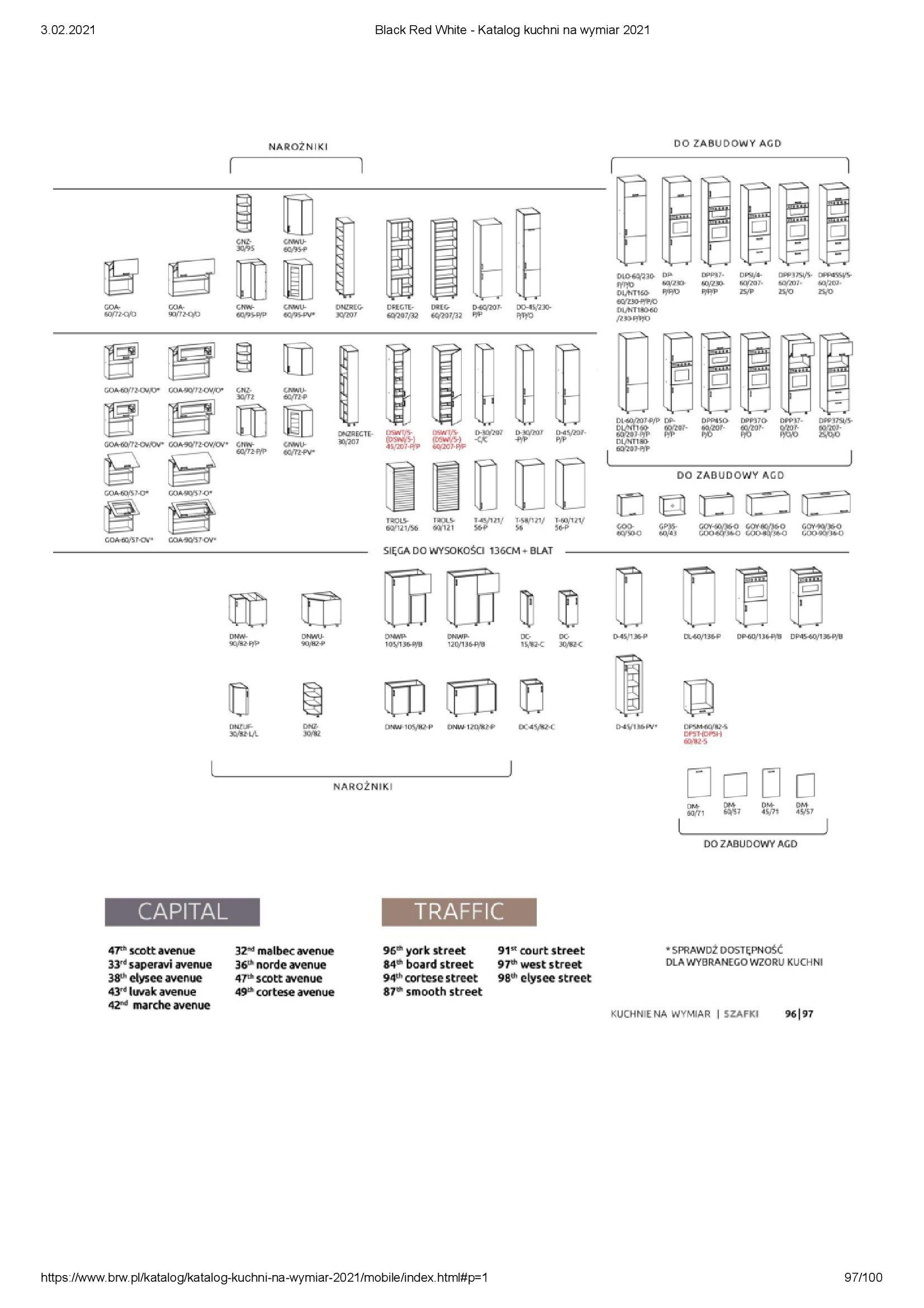 Gazetka Black Red White: Katalog - Kuchnie na wymiar Senso Kitchens 2021 2021-01-01 page-97