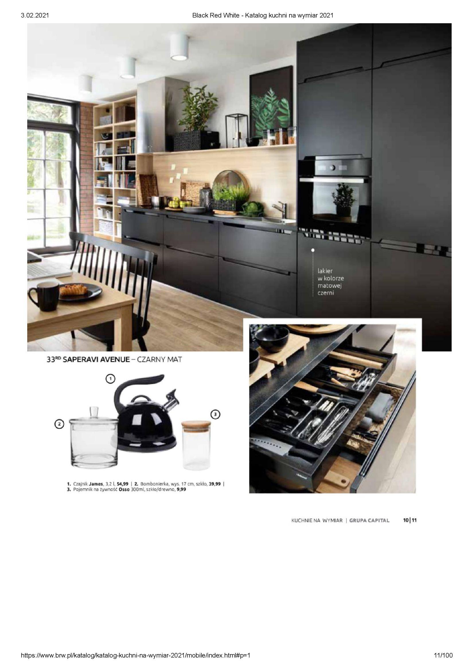 Gazetka Black Red White: Katalog - Kuchnie na wymiar Senso Kitchens 2021 2021-01-01 page-11