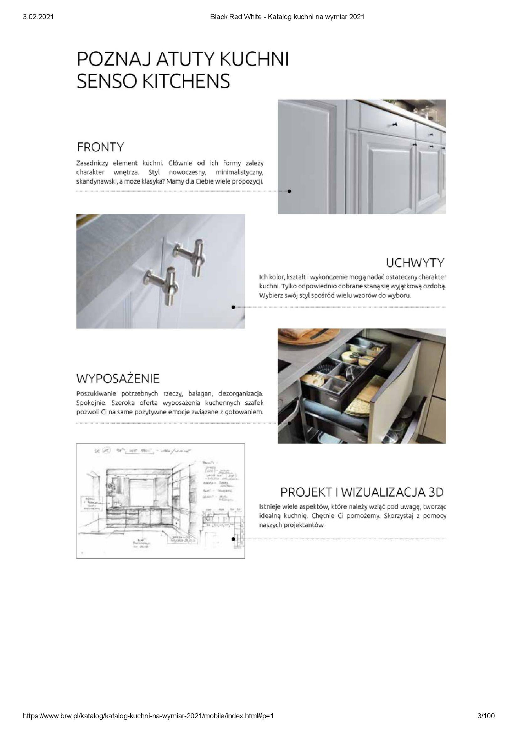 Gazetka Black Red White: Katalog - Kuchnie na wymiar Senso Kitchens 2021 2021-01-01 page-3