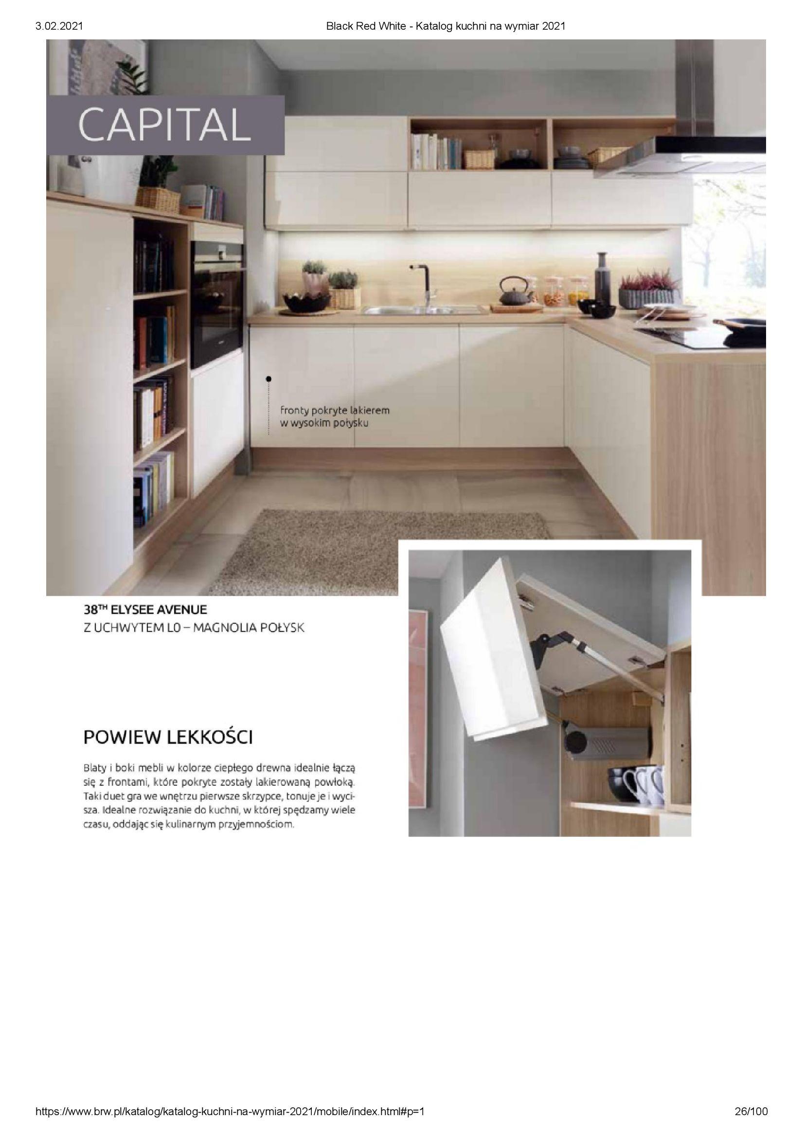 Gazetka Black Red White: Katalog - Kuchnie na wymiar Senso Kitchens 2021 2021-01-01 page-26