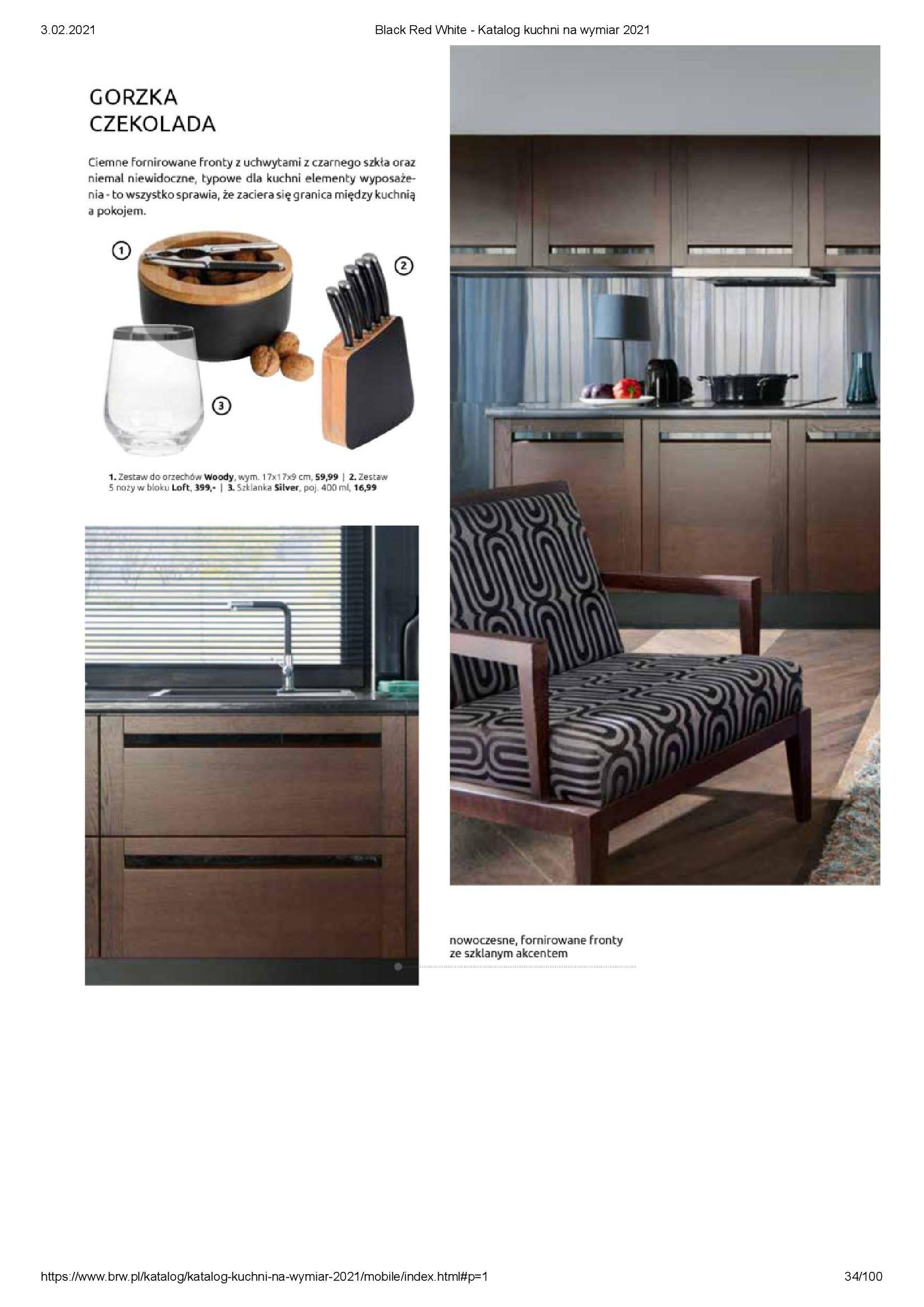 Gazetka Black Red White: Katalog - Kuchnie na wymiar Senso Kitchens 2021 2021-01-01 page-34
