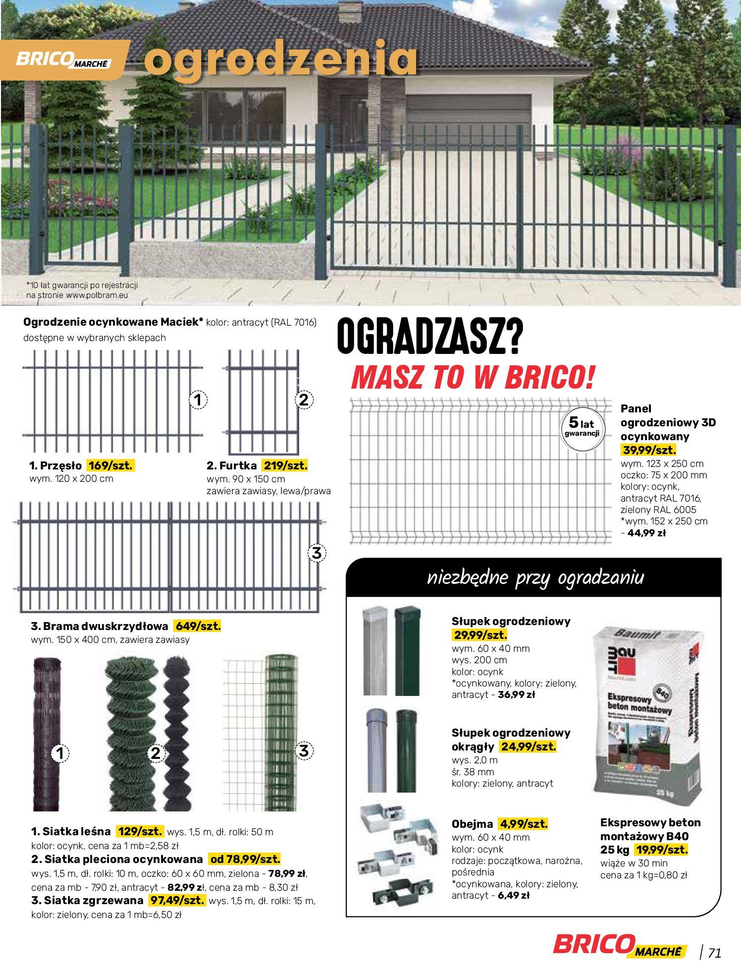Gazetka Bricomarche: Katalog wiosna 2021-03-31 page-71