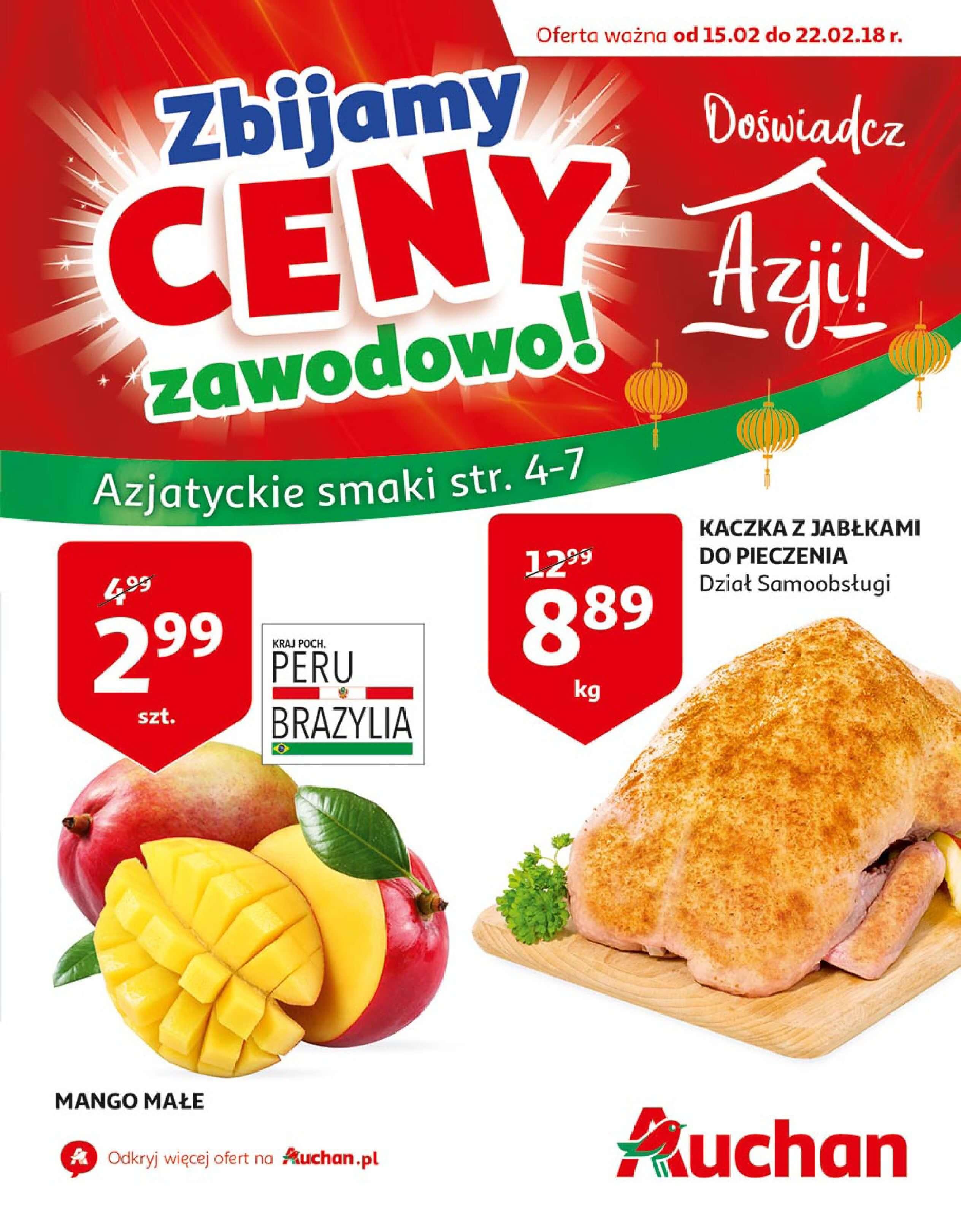 Gazetka Auchan - Zbijamy ceny zawodowo!-14.02.2018-22.02.2018-page-1