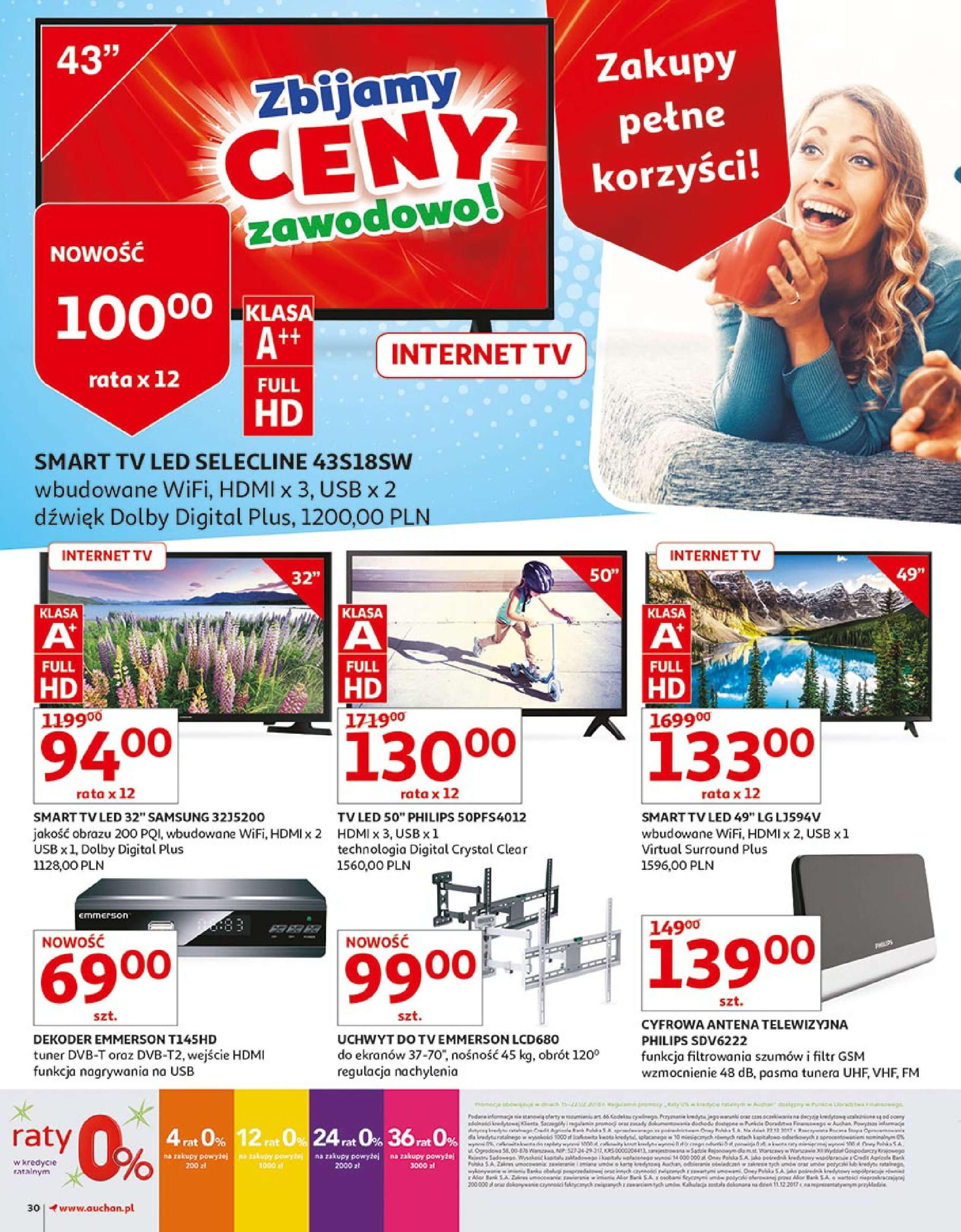 Gazetka Auchan - Zbijamy ceny zawodowo!-14.02.2018-22.02.2018-page-30