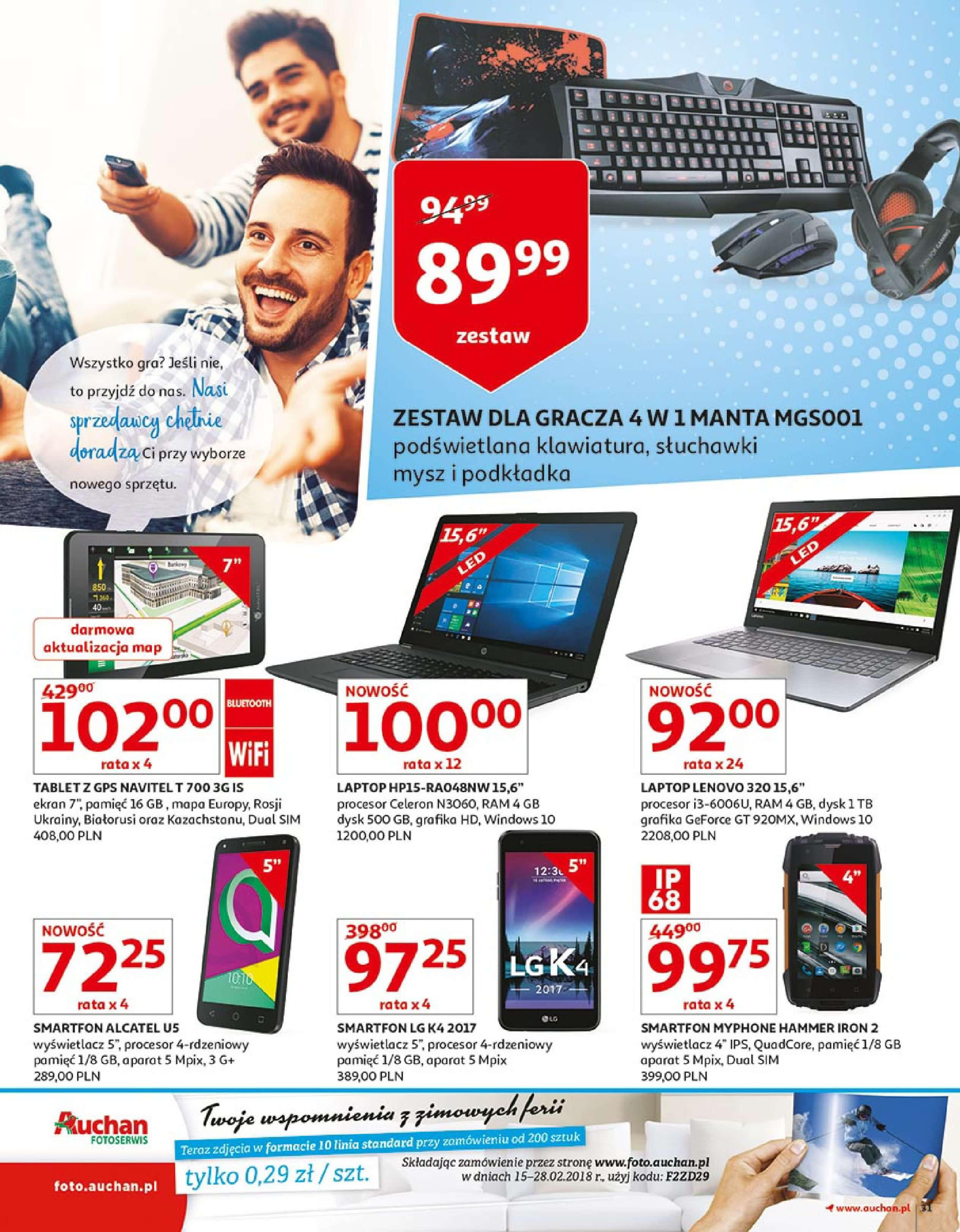 Gazetka Auchan - Zbijamy ceny zawodowo!-14.02.2018-22.02.2018-page-31