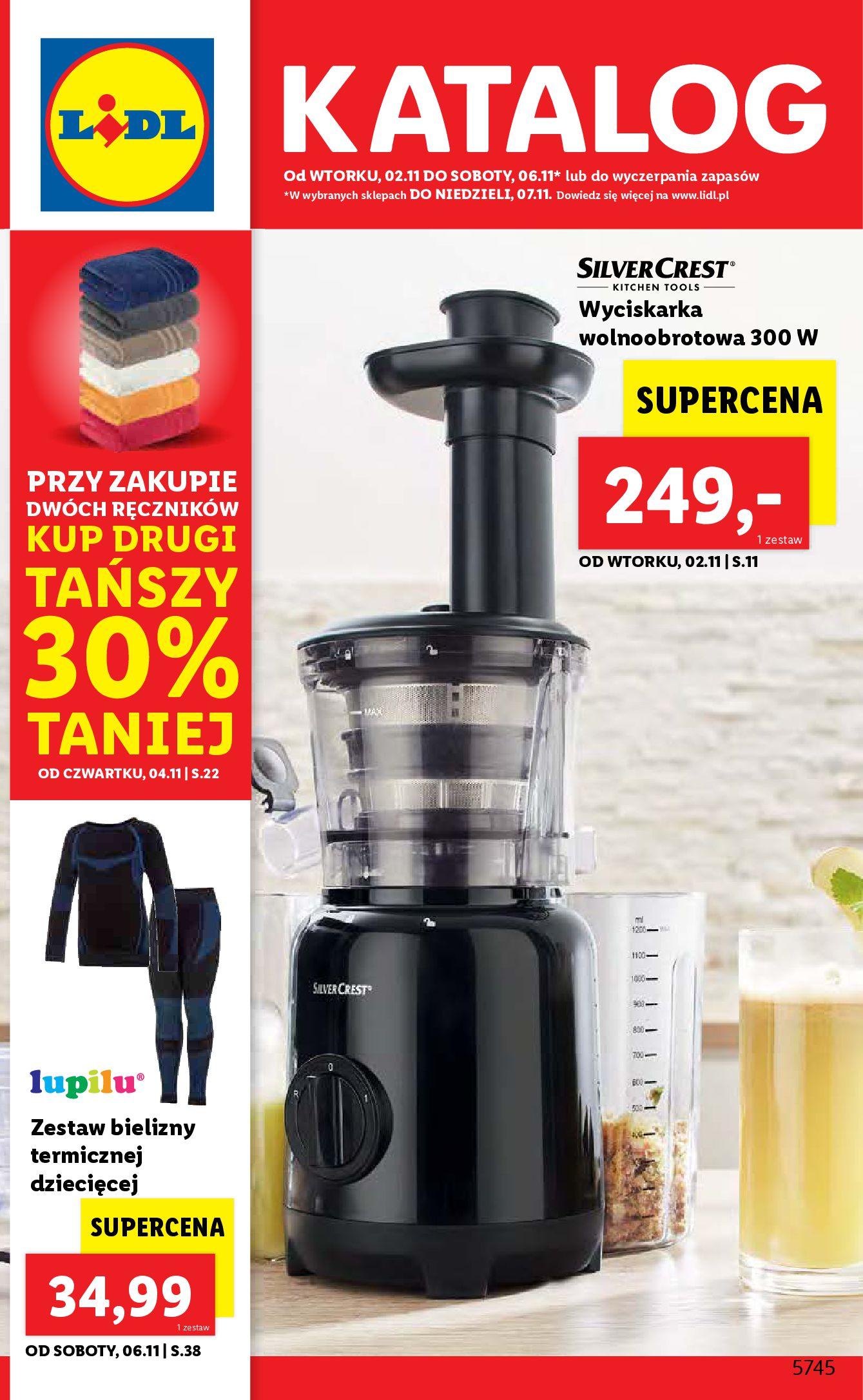 Gazetka Lidl: Gazetka Lidl - katalog od 2.11. - 01.11.2021