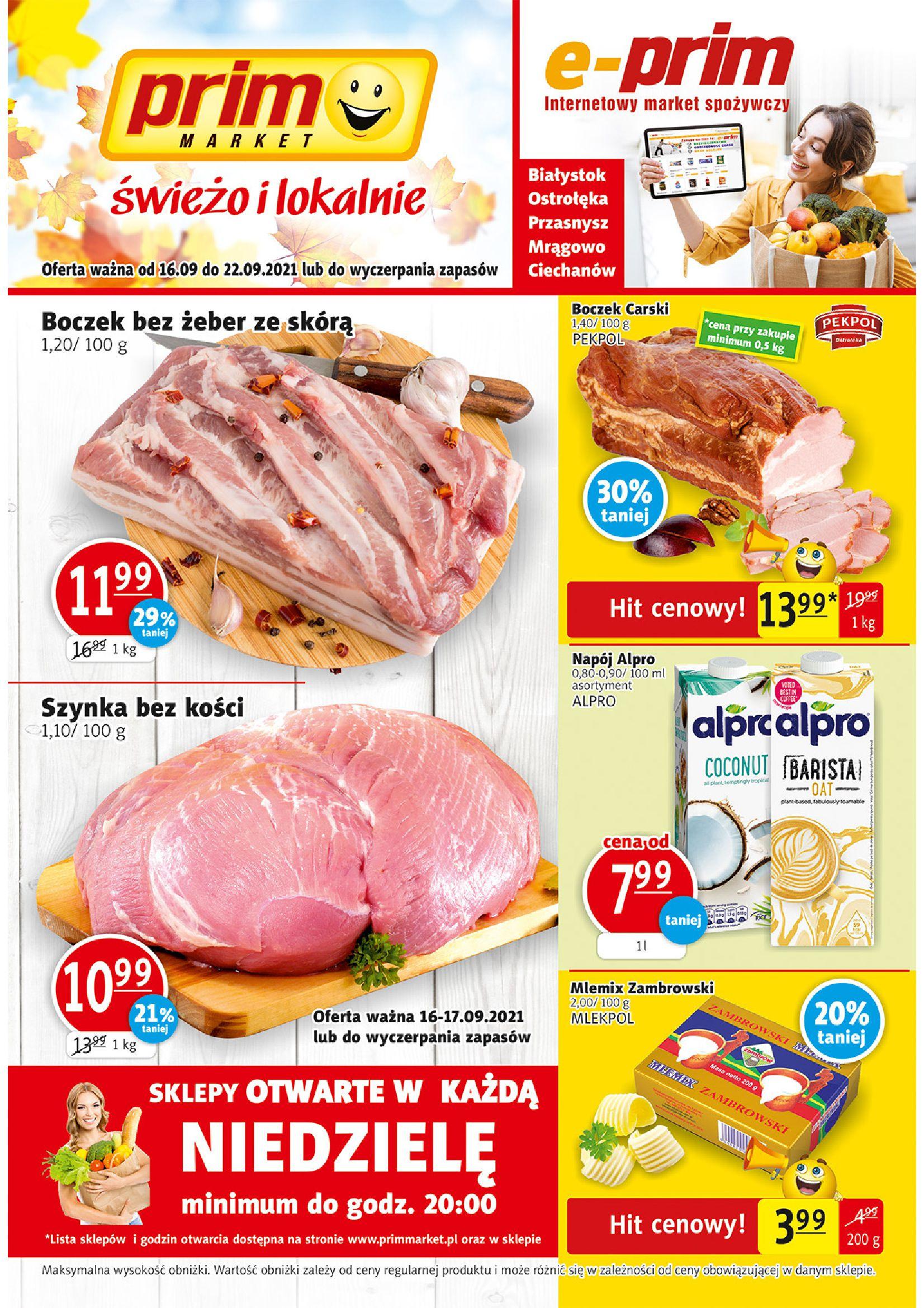 Gazetka PRIM MARKET: Gazetka PRIM MARKET - 16-22.09. 2021-09-16 page-1