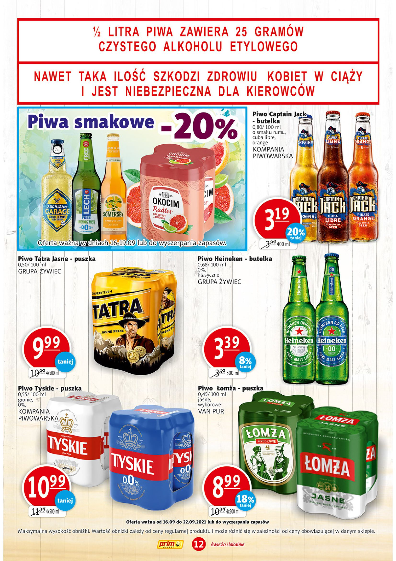 Gazetka PRIM MARKET: Gazetka PRIM MARKET - 16-22.09. 2021-09-16 page-12