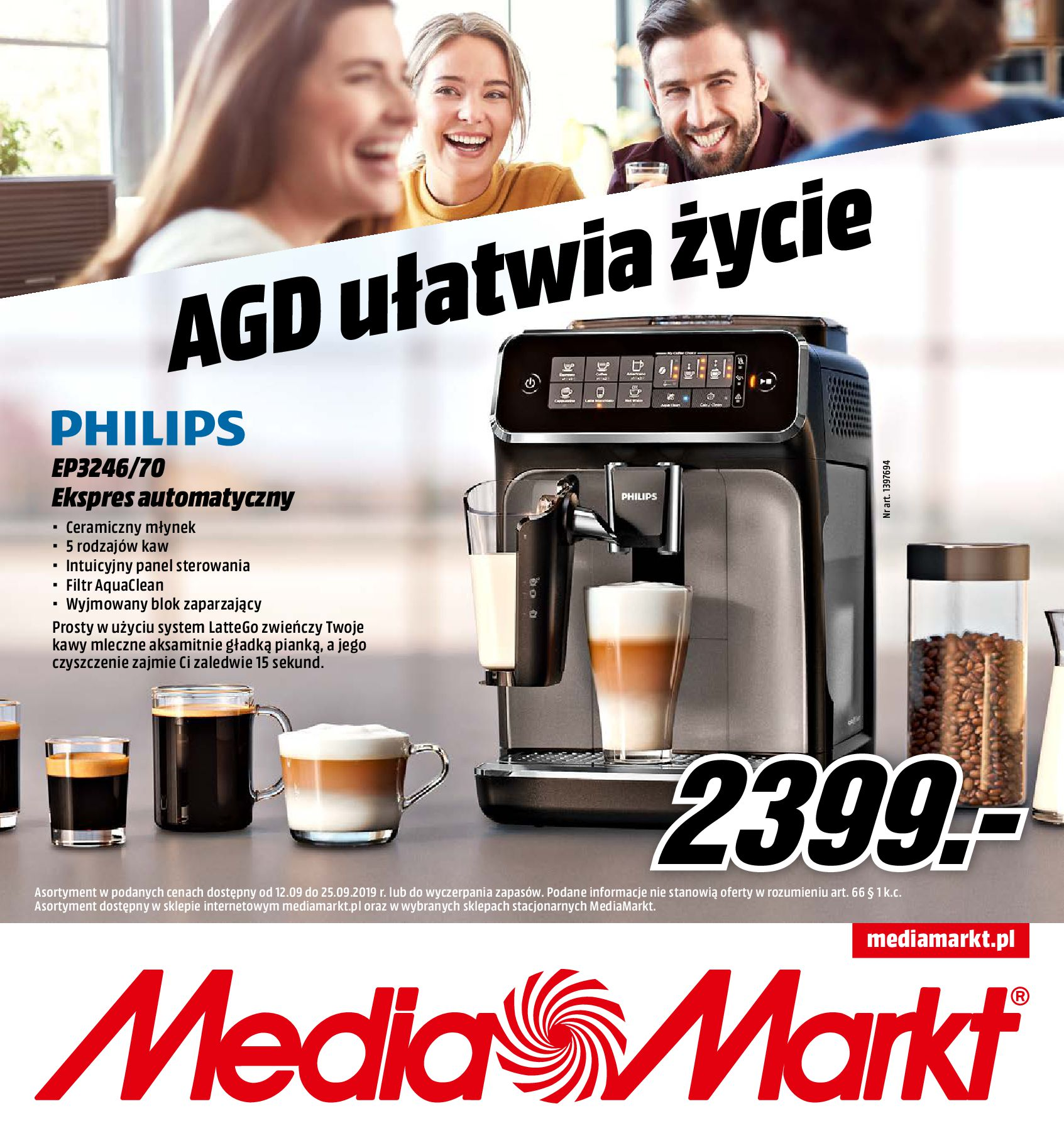 Gazetka Media Markt - AGD ułatwia życie-11.09.2019-25.09.2019-page-1
