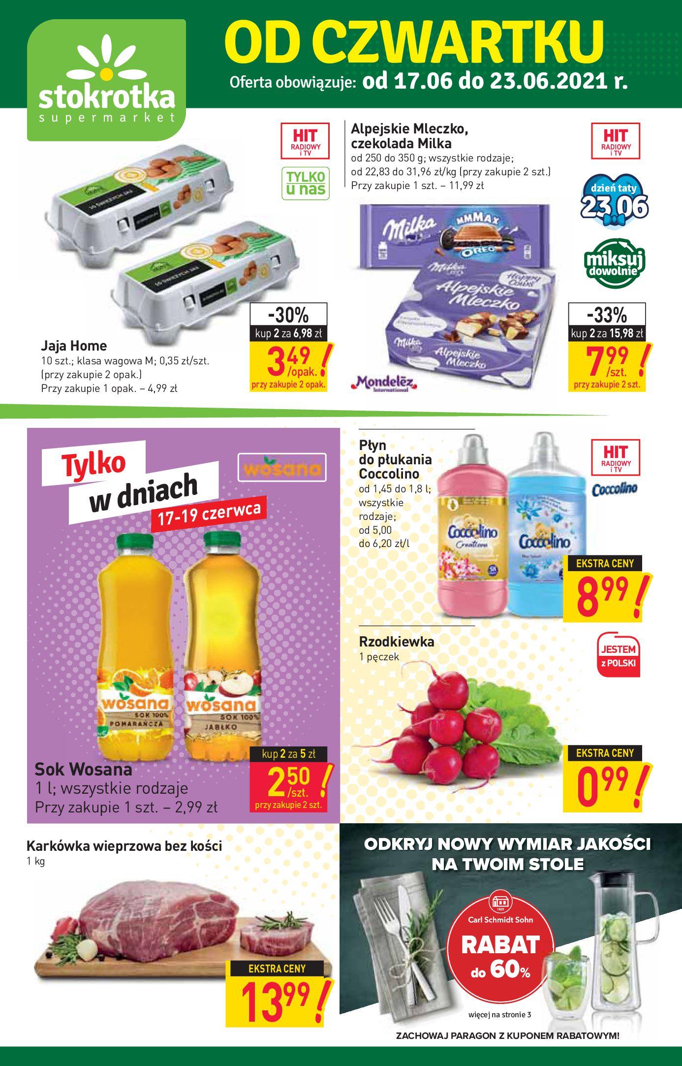 Stokrotka Supermarket:  Gazetka Stokrotka Supermarket - 17-23.06 16.06.2021