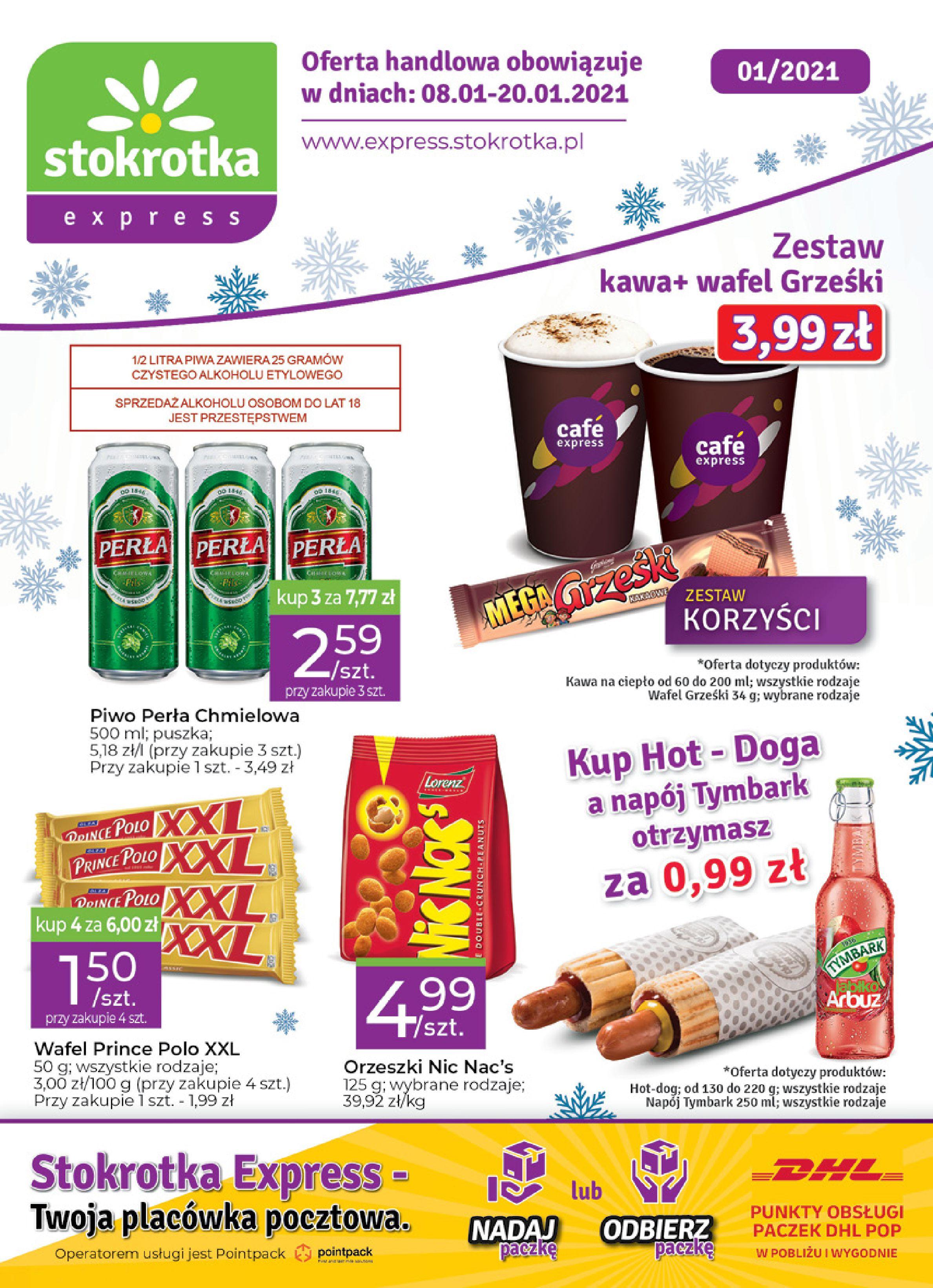 Gazetka Stokrotka Express: Oferta handlowa 2021-01-08 page-1