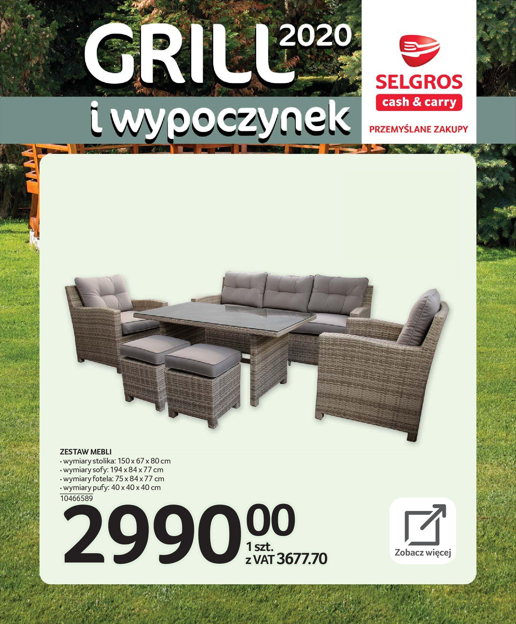 Gazetka Selgros - Katalog - Grill i wypoczynek-31.03.2020-31.08.2020-page-5