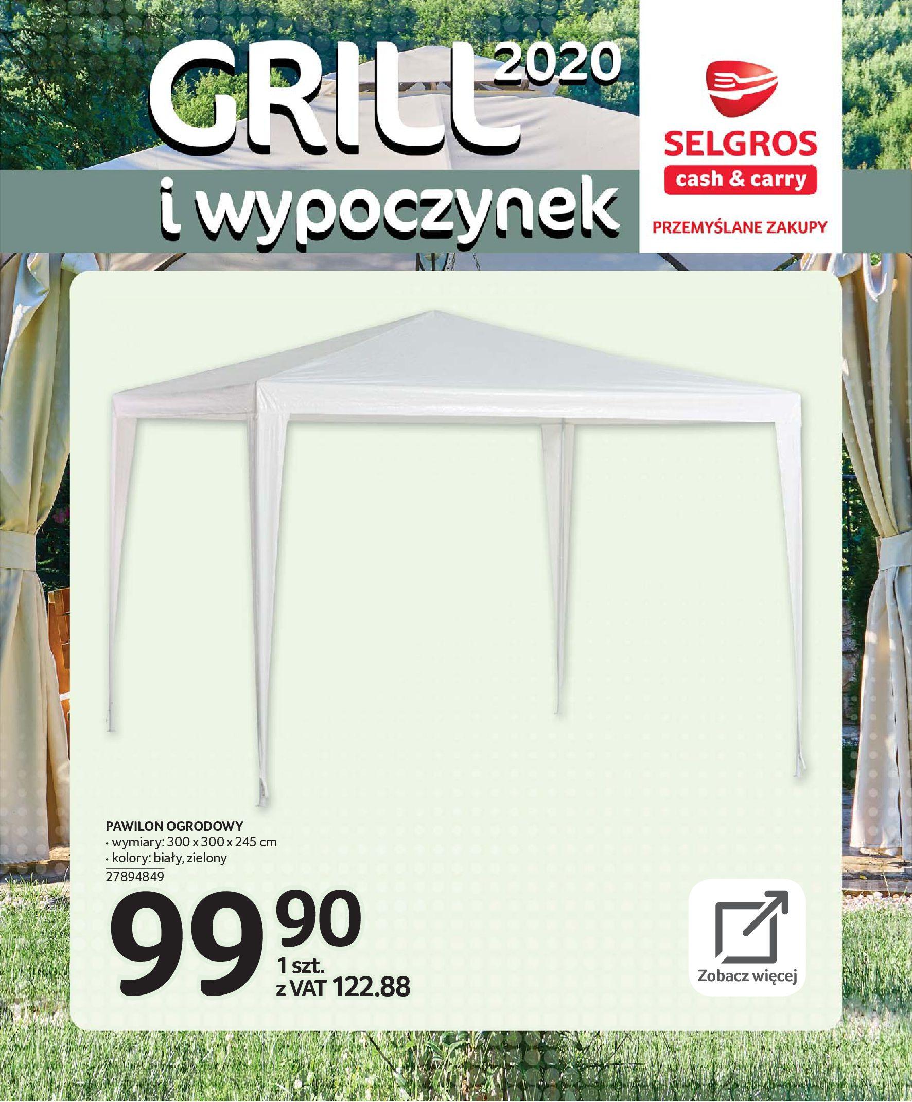 Gazetka Selgros - Katalog - Grill i wypoczynek-31.03.2020-31.08.2020-page-44
