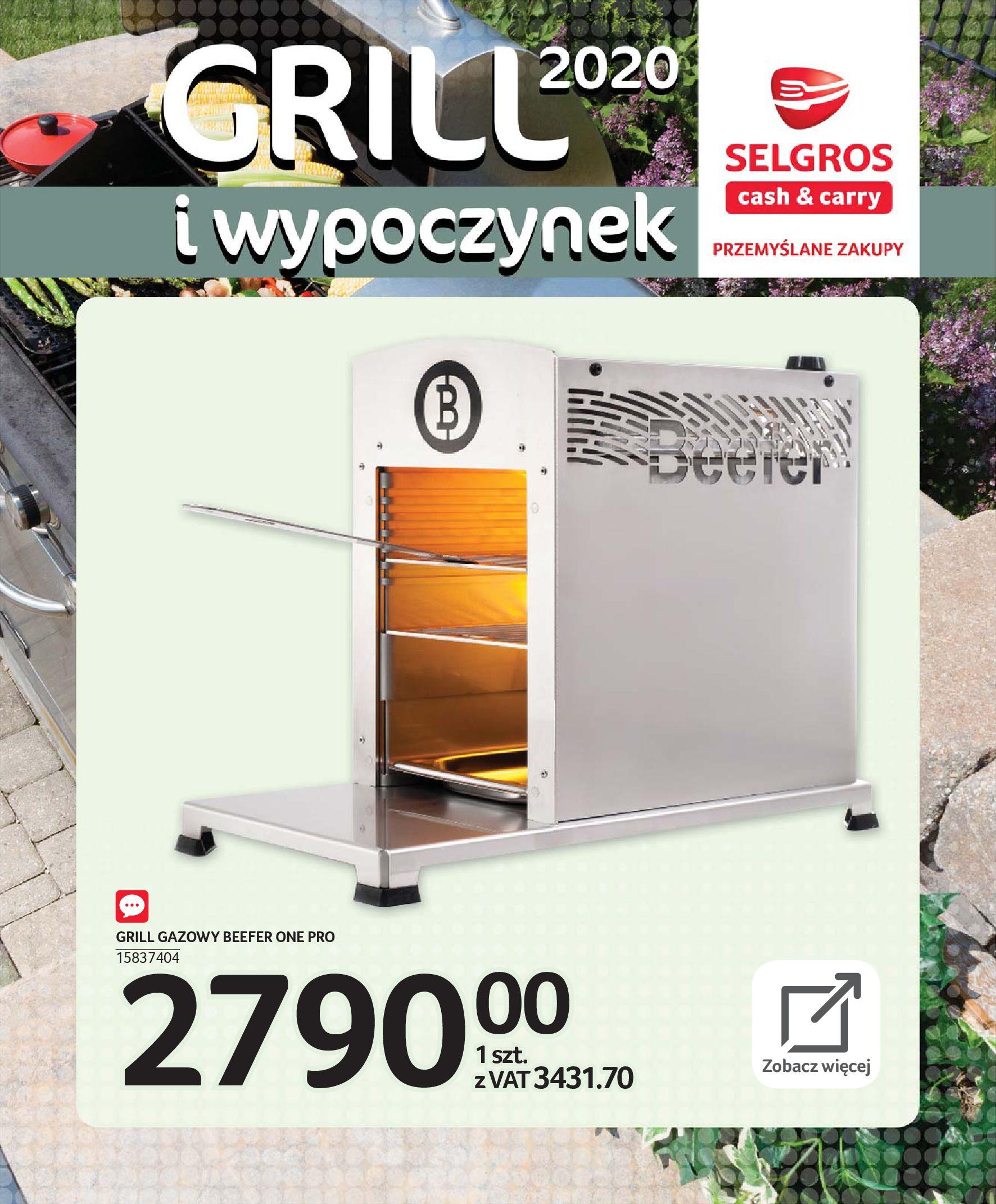 Gazetka Selgros - Katalog - Grill i wypoczynek-31.03.2020-31.08.2020-page-46