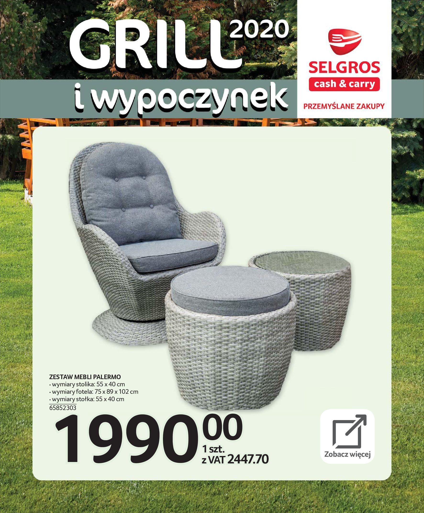 Gazetka Selgros - Katalog - Grill i wypoczynek-31.03.2020-31.08.2020-page-6