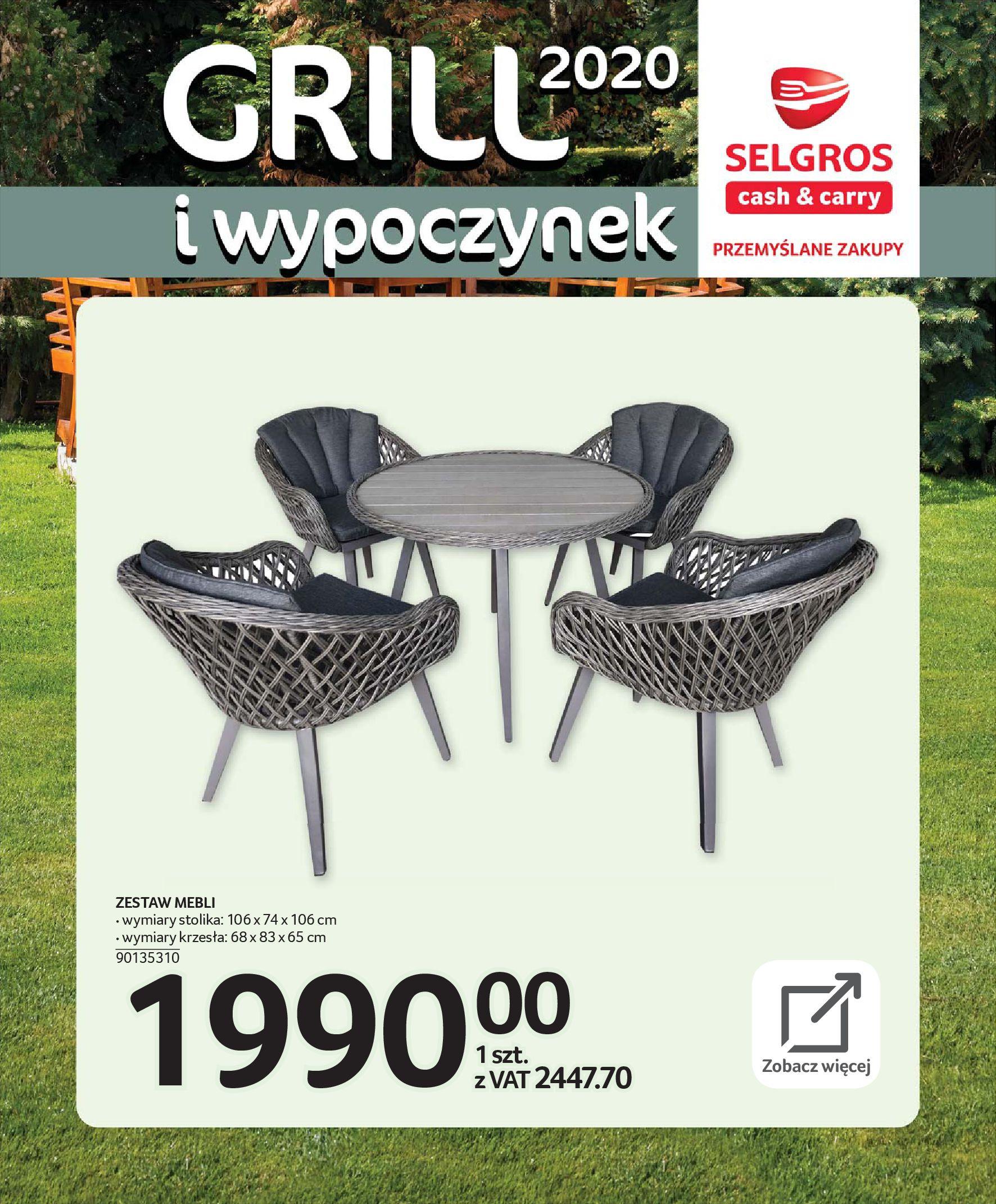 Gazetka Selgros - Katalog - Grill i wypoczynek-31.03.2020-31.08.2020-page-7