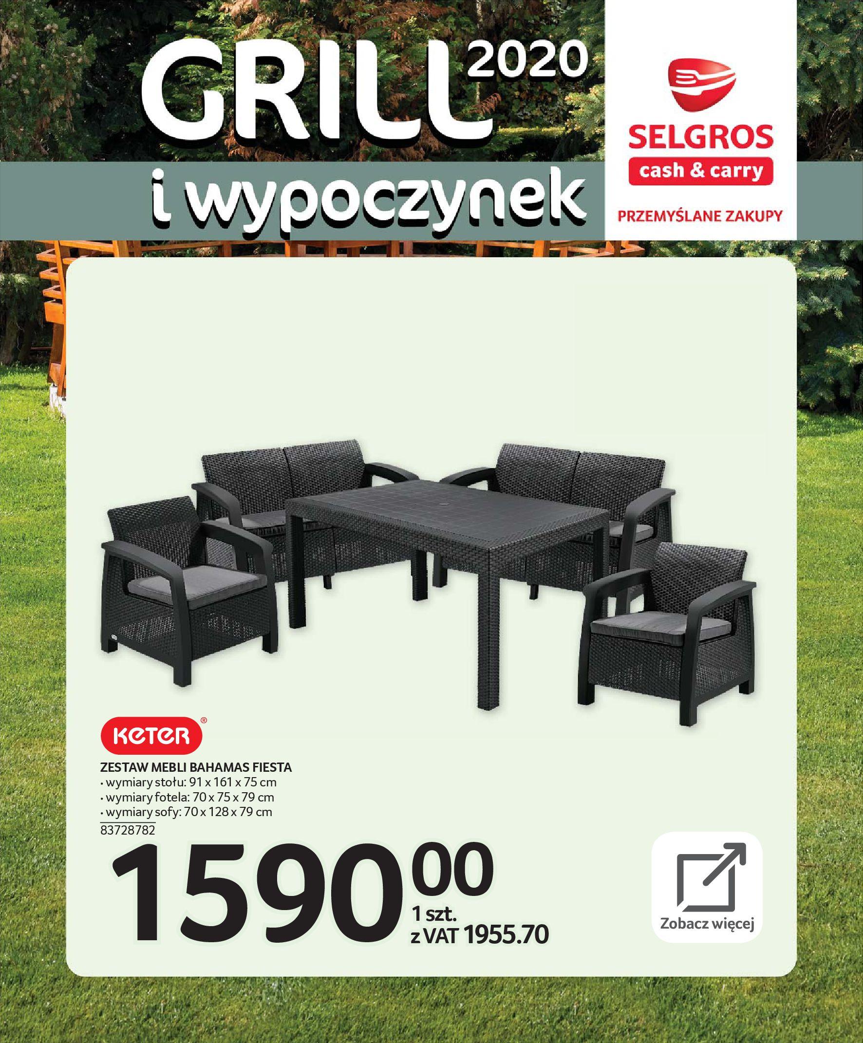 Gazetka Selgros - Katalog - Grill i wypoczynek-31.03.2020-31.08.2020-page-8