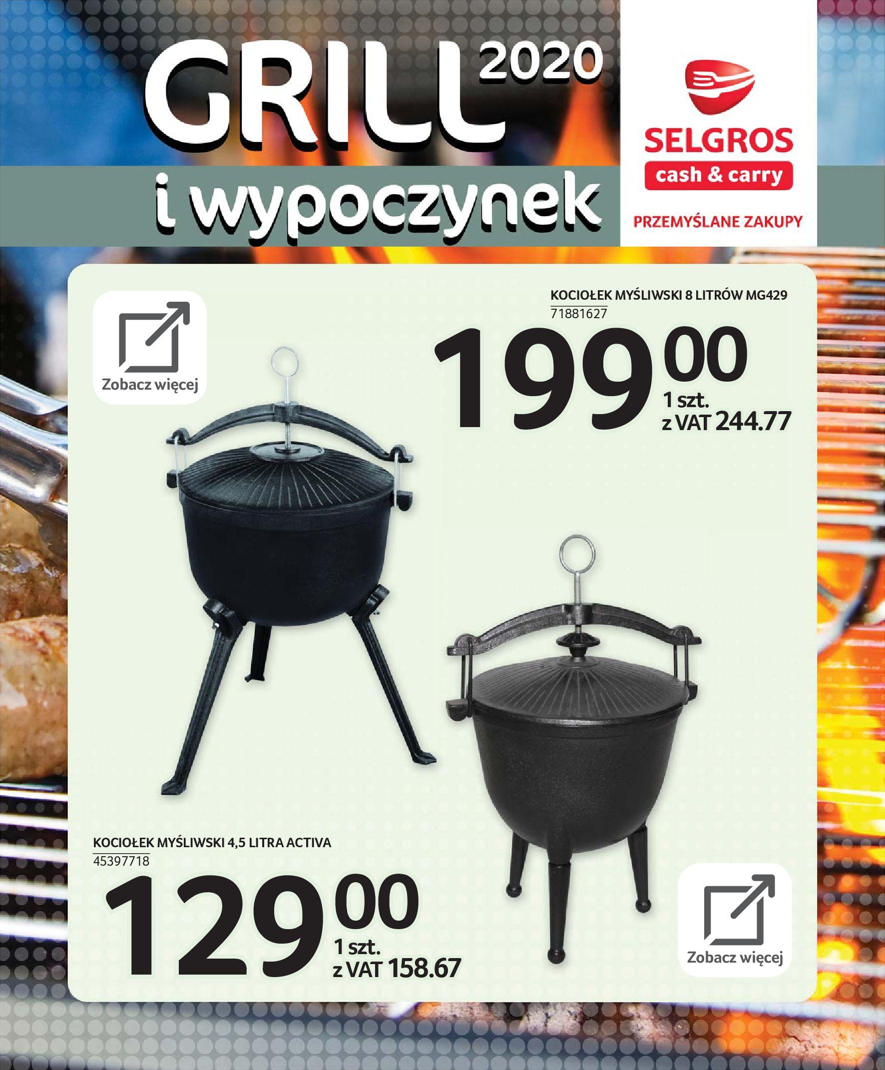 Gazetka Selgros - Katalog - Grill i wypoczynek-31.03.2020-31.08.2020-page-74