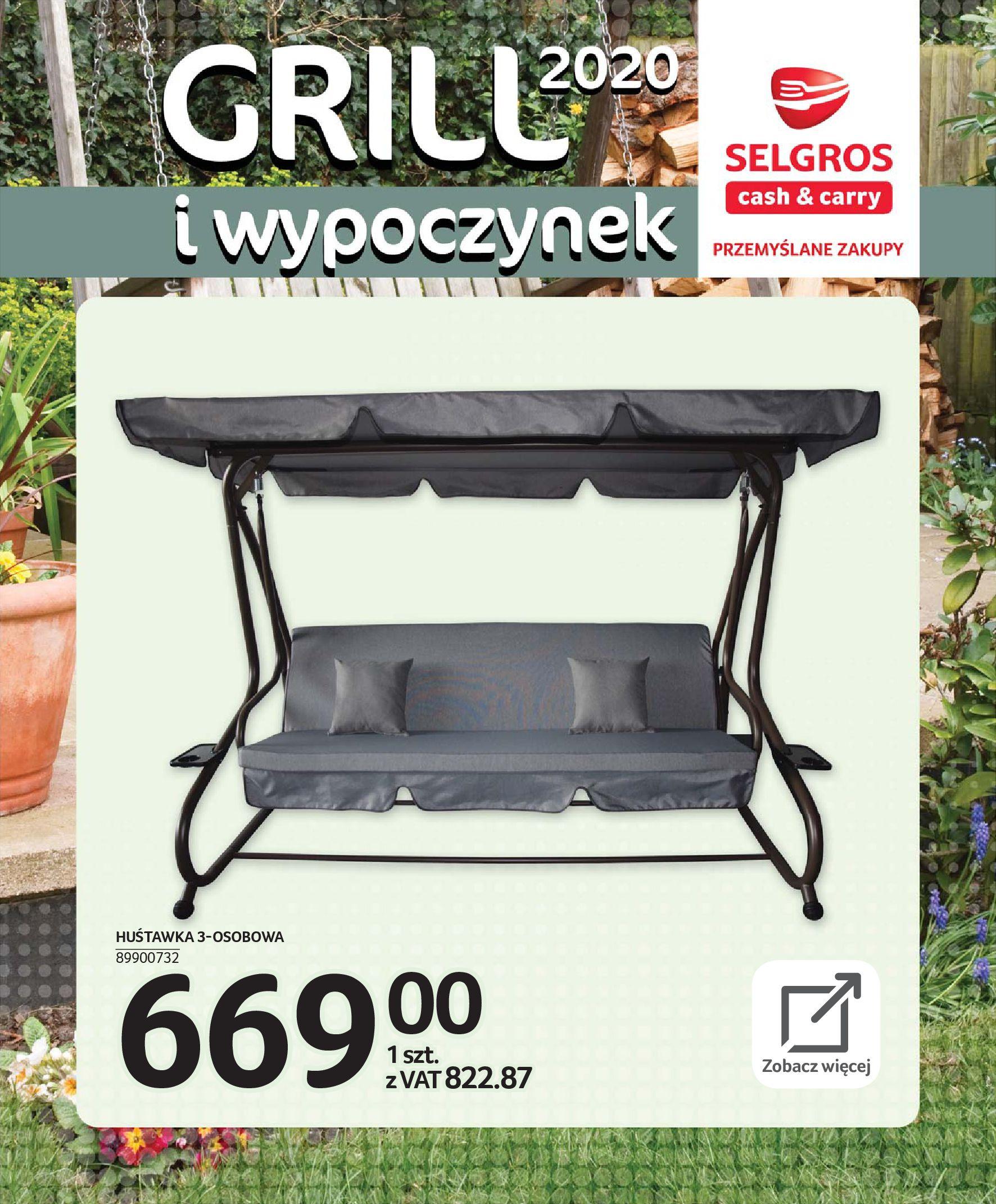 Gazetka Selgros - Katalog - Grill i wypoczynek-31.03.2020-31.08.2020-page-76