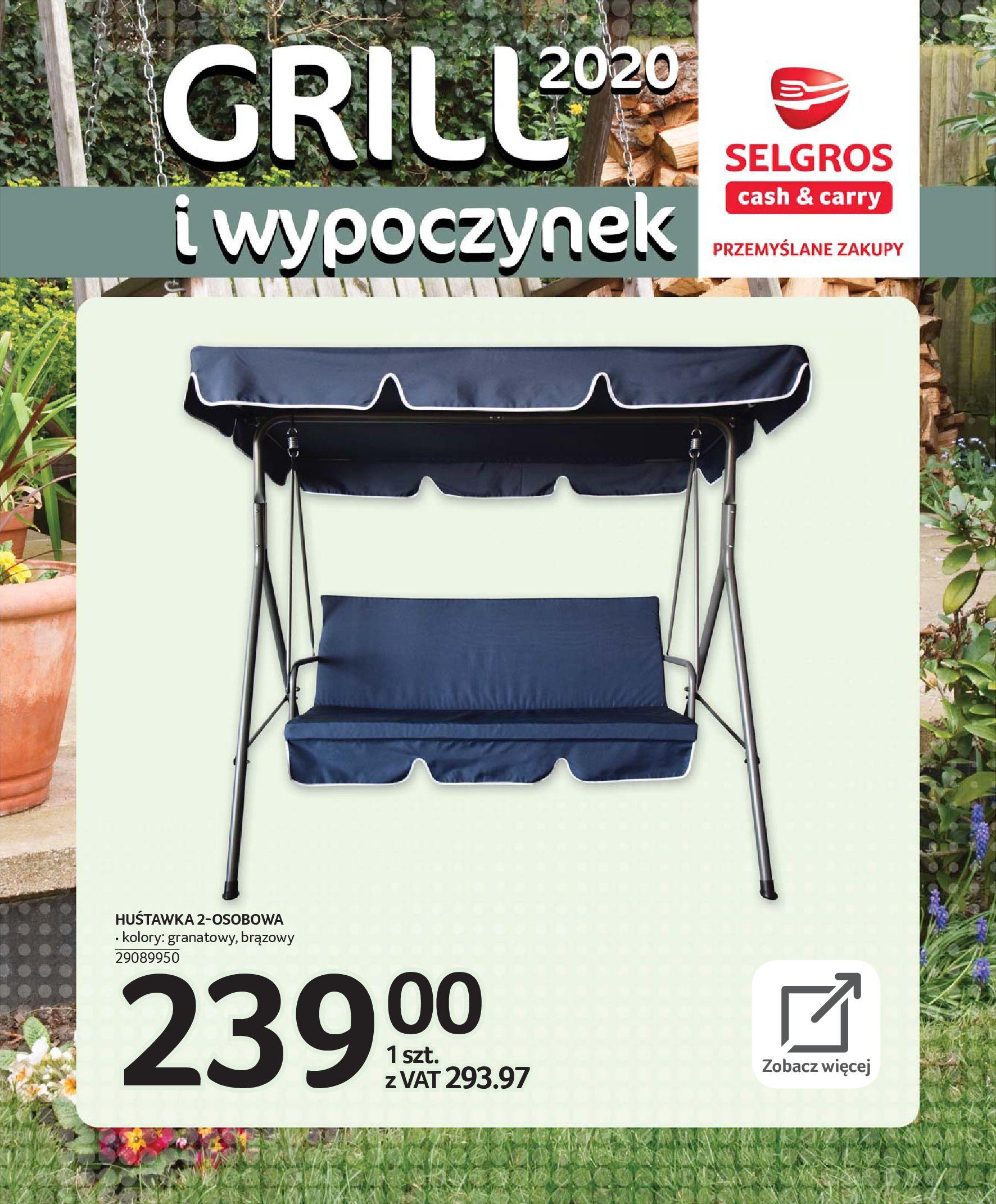 Gazetka Selgros - Katalog - Grill i wypoczynek-31.03.2020-31.08.2020-page-78