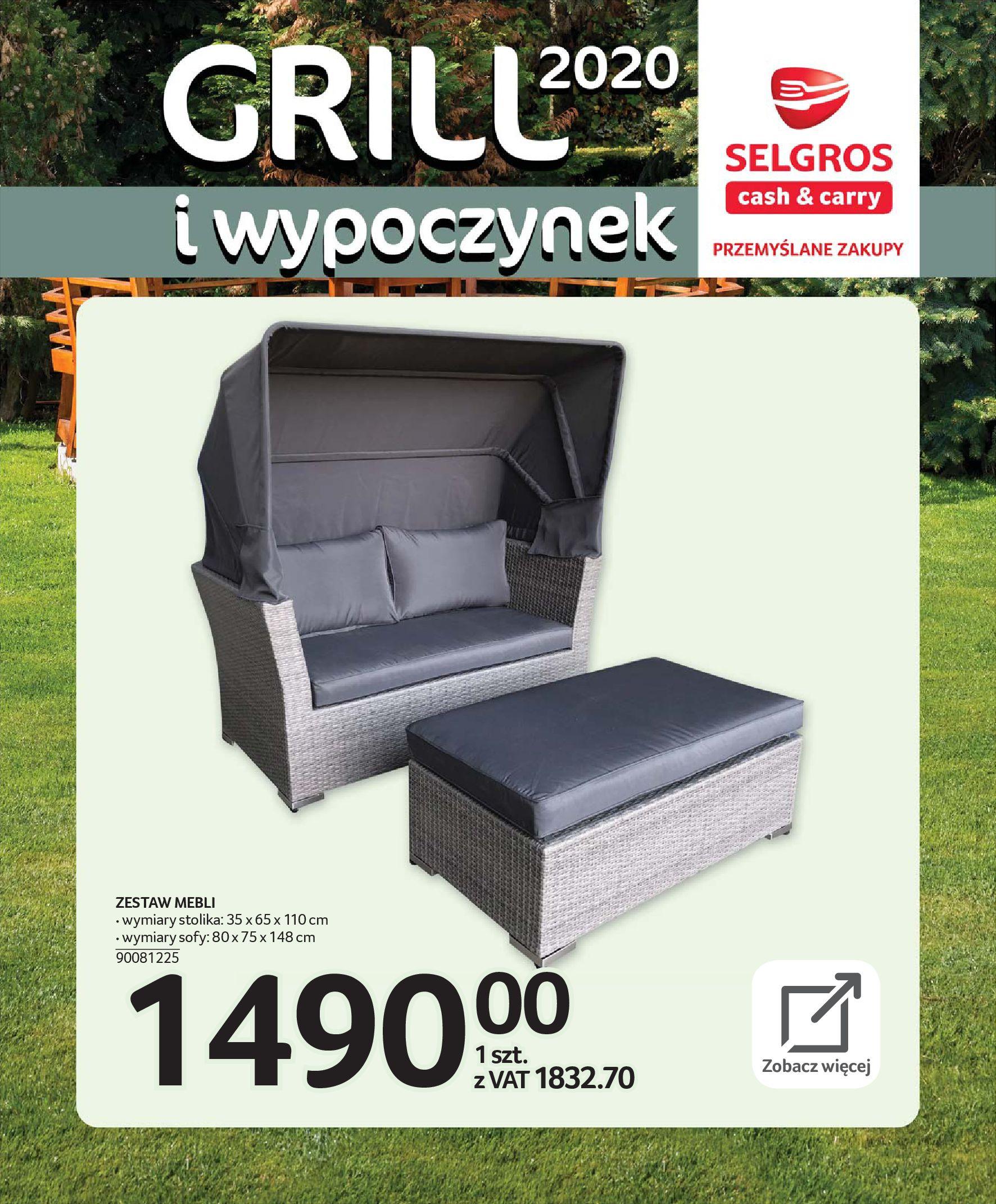 Gazetka Selgros - Katalog - Grill i wypoczynek-31.03.2020-31.08.2020-page-9