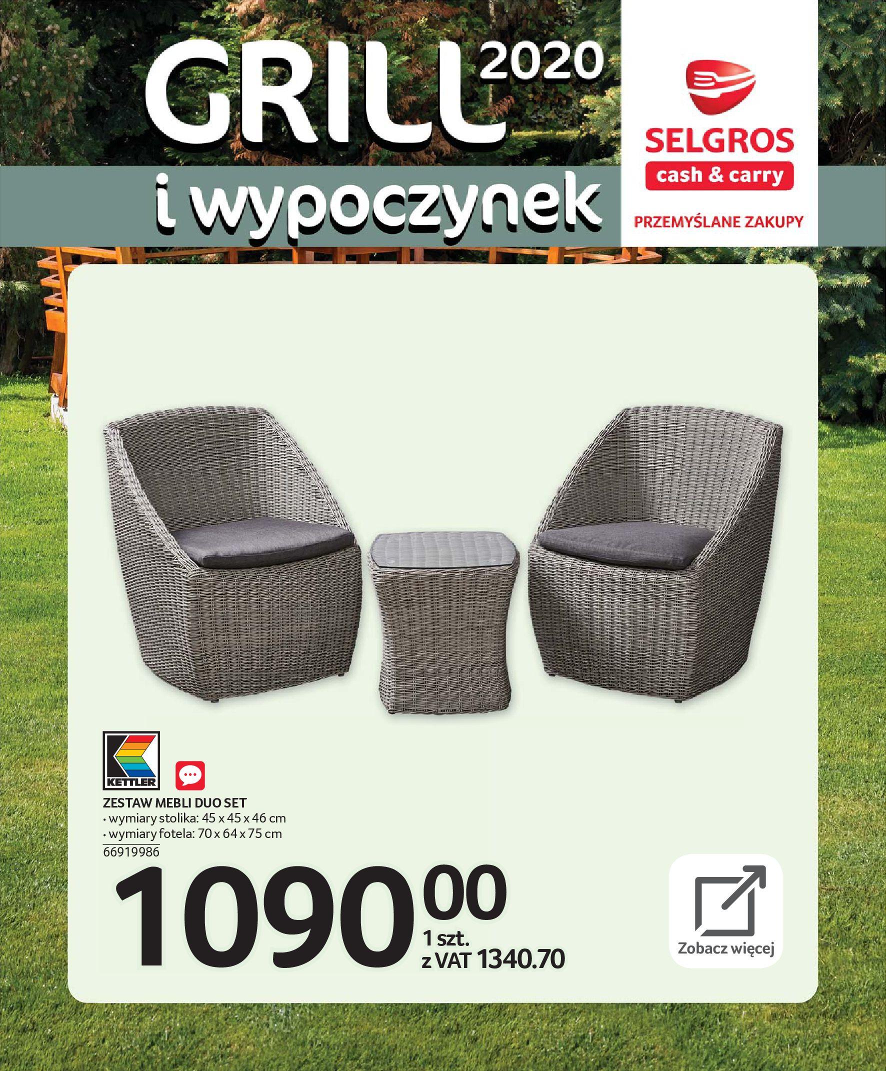Gazetka Selgros - Katalog - Grill i wypoczynek-31.03.2020-31.08.2020-page-10