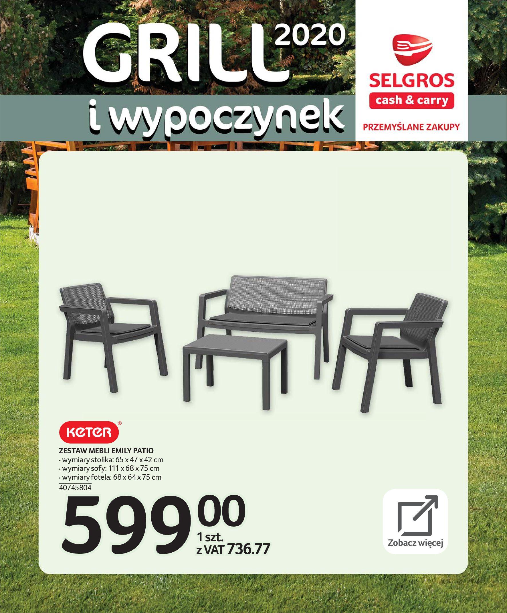 Gazetka Selgros - Katalog - Grill i wypoczynek-31.03.2020-31.08.2020-page-11