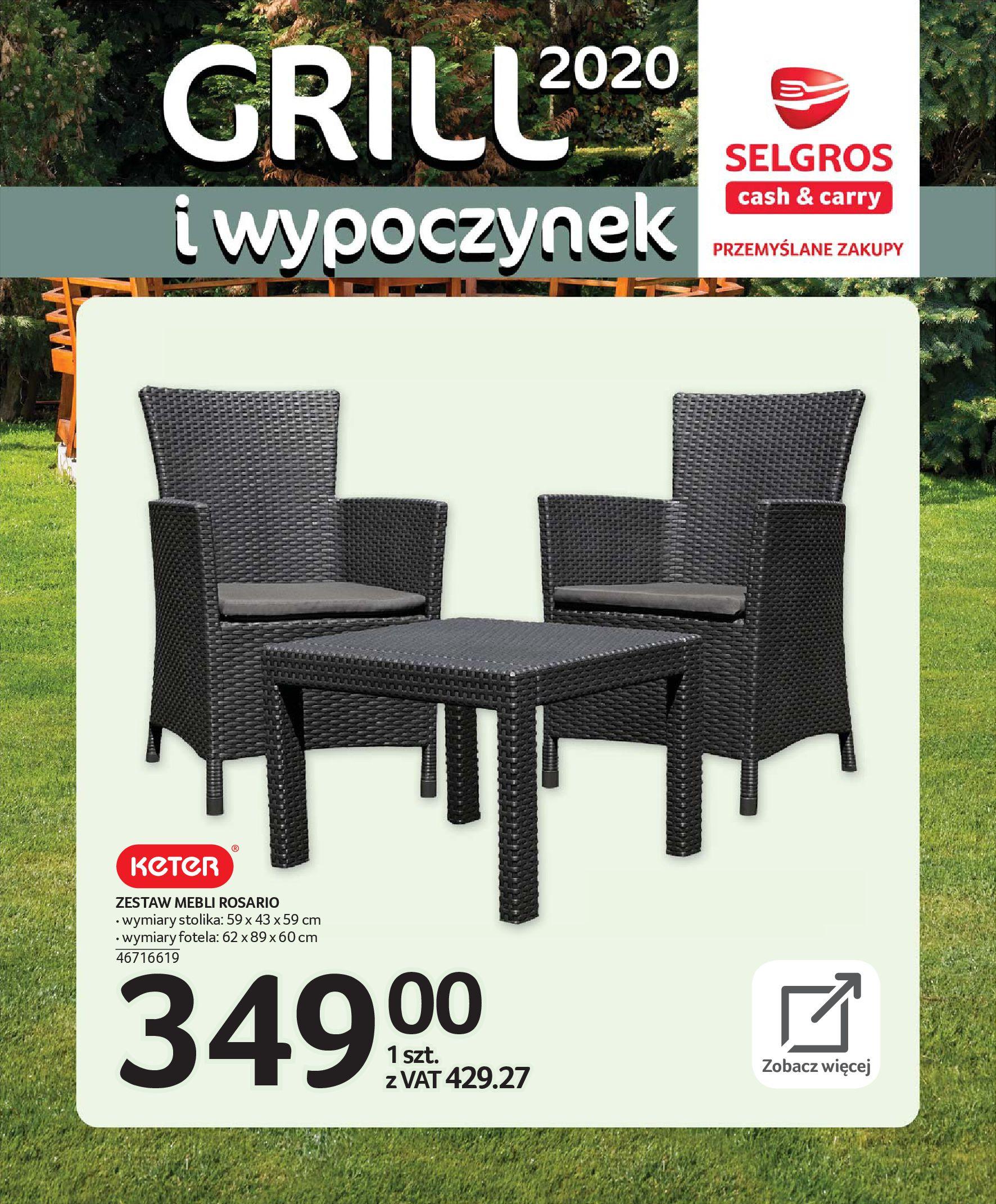 Gazetka Selgros - Katalog - Grill i wypoczynek-31.03.2020-31.08.2020-page-12