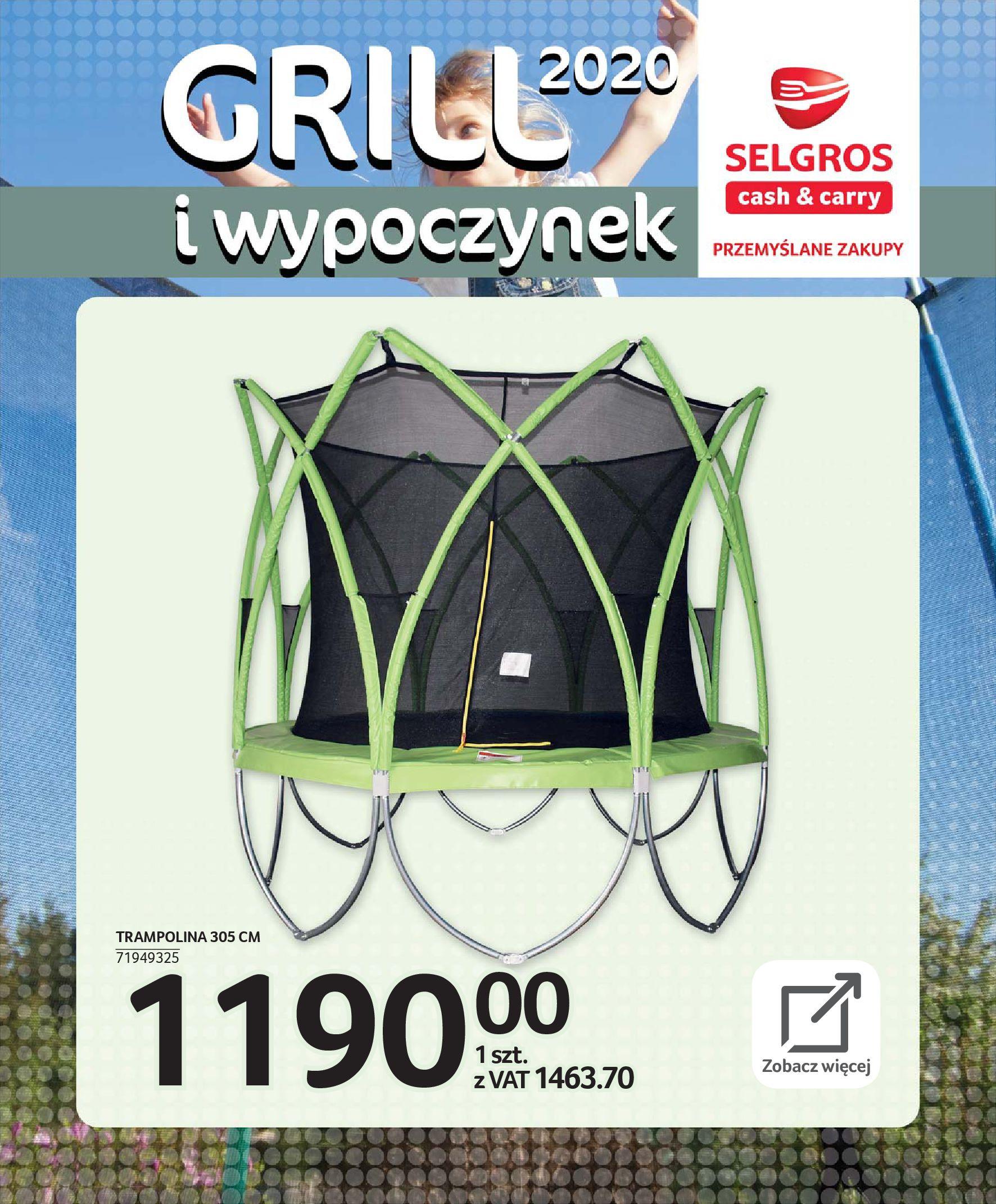 Gazetka Selgros - Katalog - Grill i wypoczynek-31.03.2020-31.08.2020-page-113
