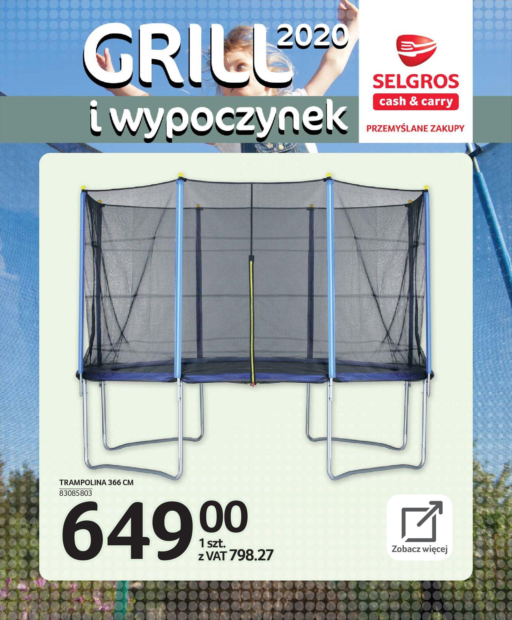 Gazetka Selgros - Katalog - Grill i wypoczynek-31.03.2020-31.08.2020-page-114