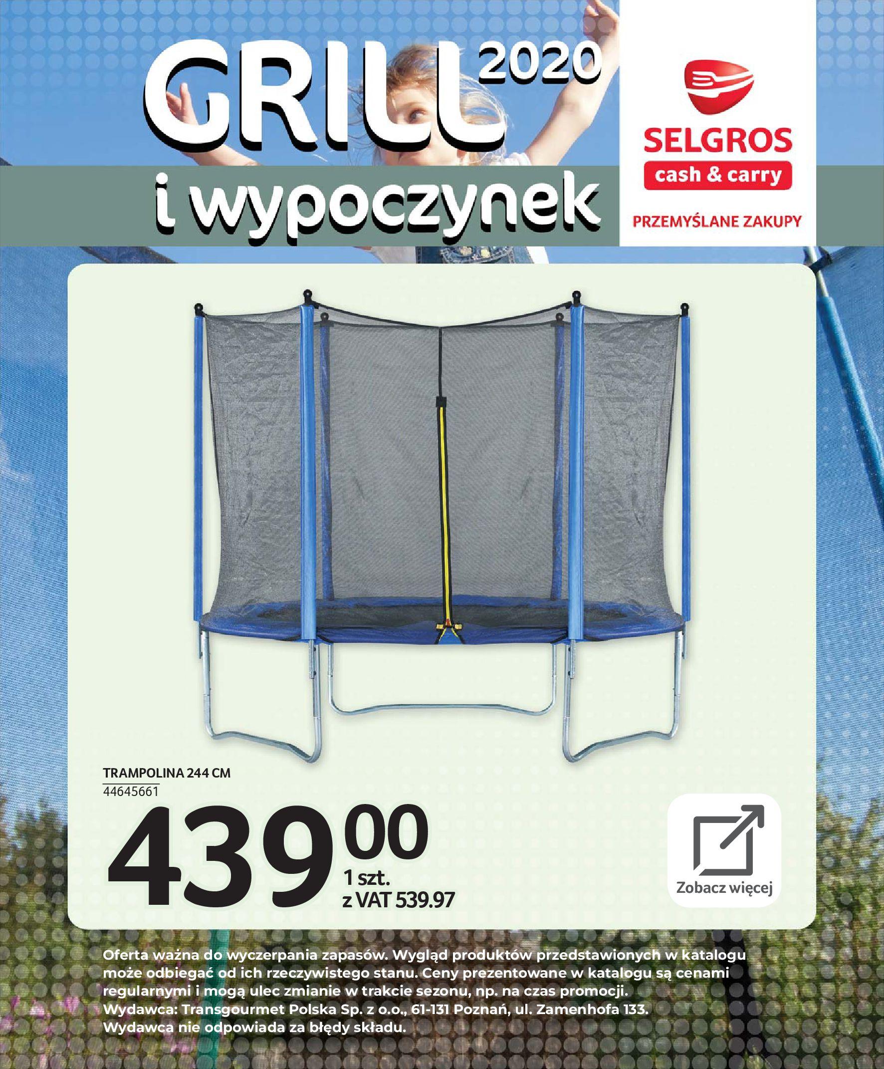 Gazetka Selgros - Katalog - Grill i wypoczynek-31.03.2020-31.08.2020-page-116