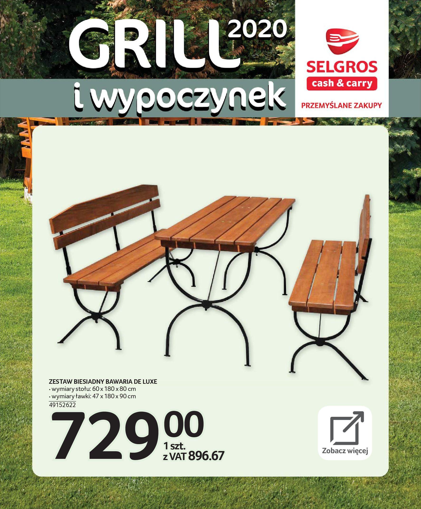 Gazetka Selgros - Katalog - Grill i wypoczynek-31.03.2020-31.08.2020-page-13