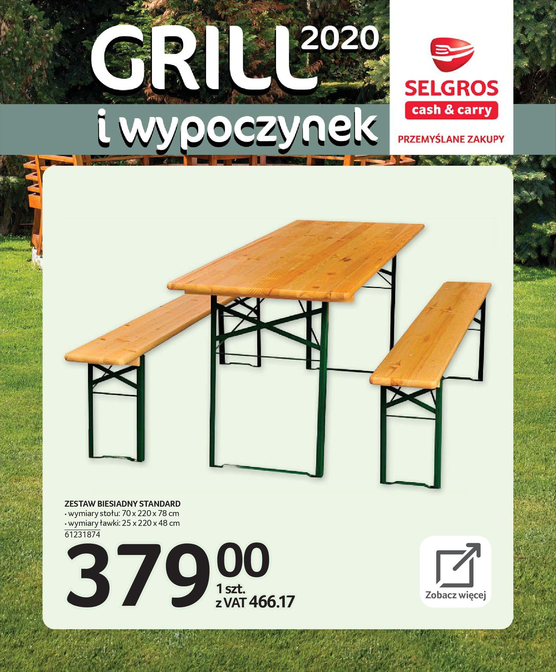 Gazetka Selgros - Katalog - Grill i wypoczynek-31.03.2020-31.08.2020-page-14