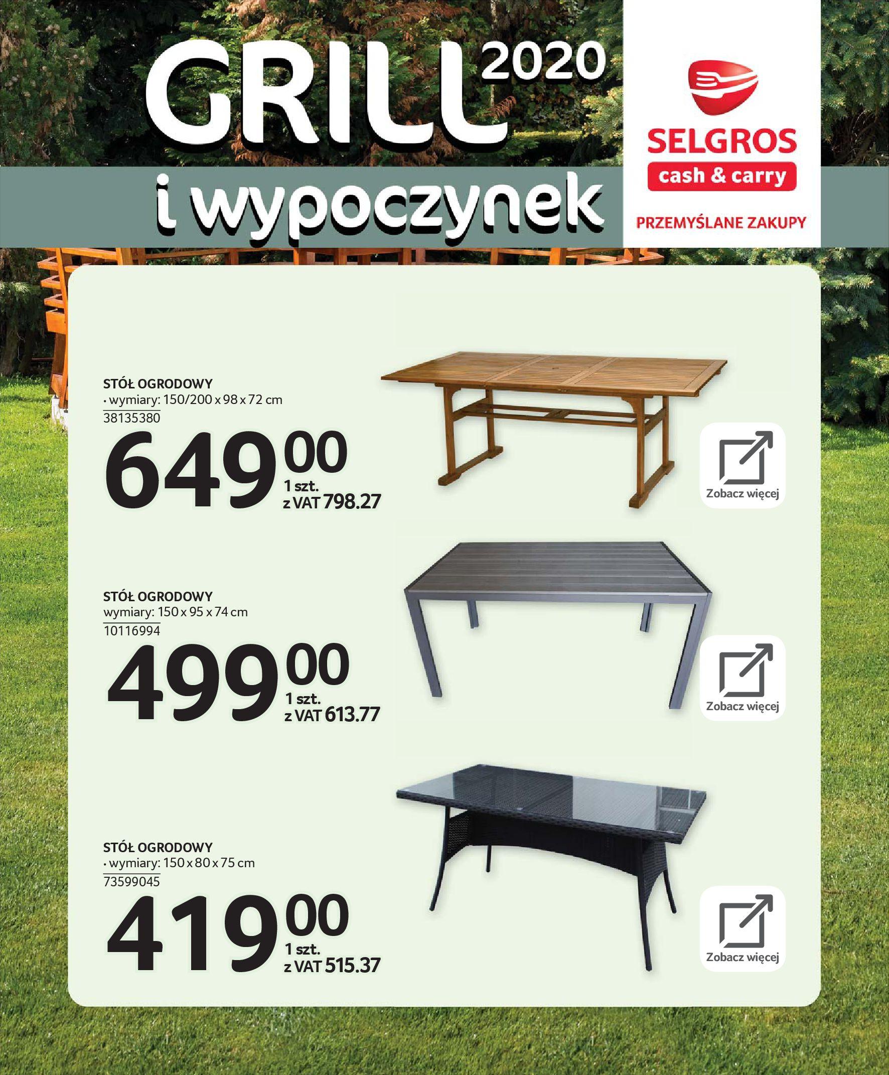 Gazetka Selgros - Katalog - Grill i wypoczynek-31.03.2020-31.08.2020-page-16