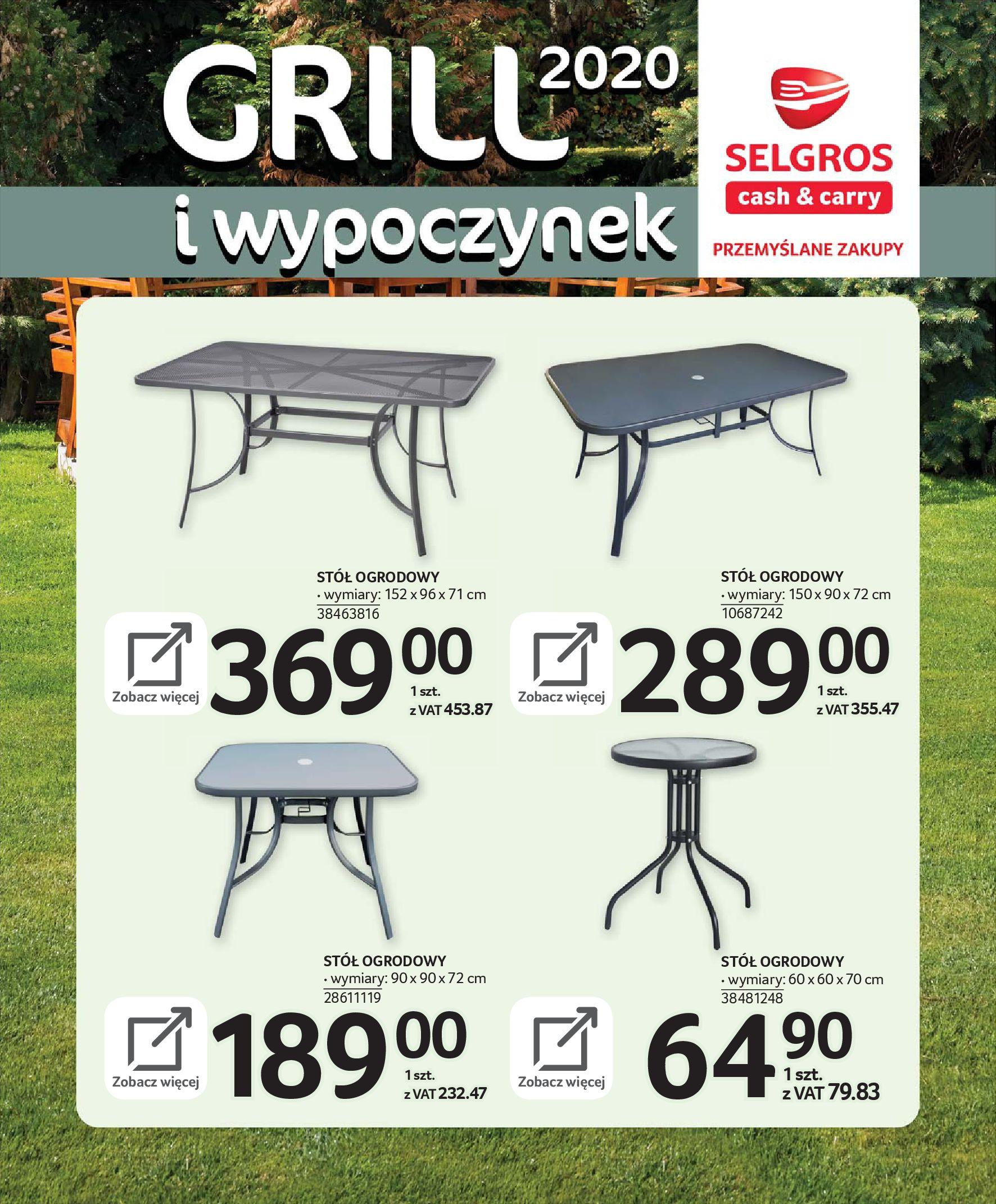 Gazetka Selgros - Katalog - Grill i wypoczynek-31.03.2020-31.08.2020-page-17